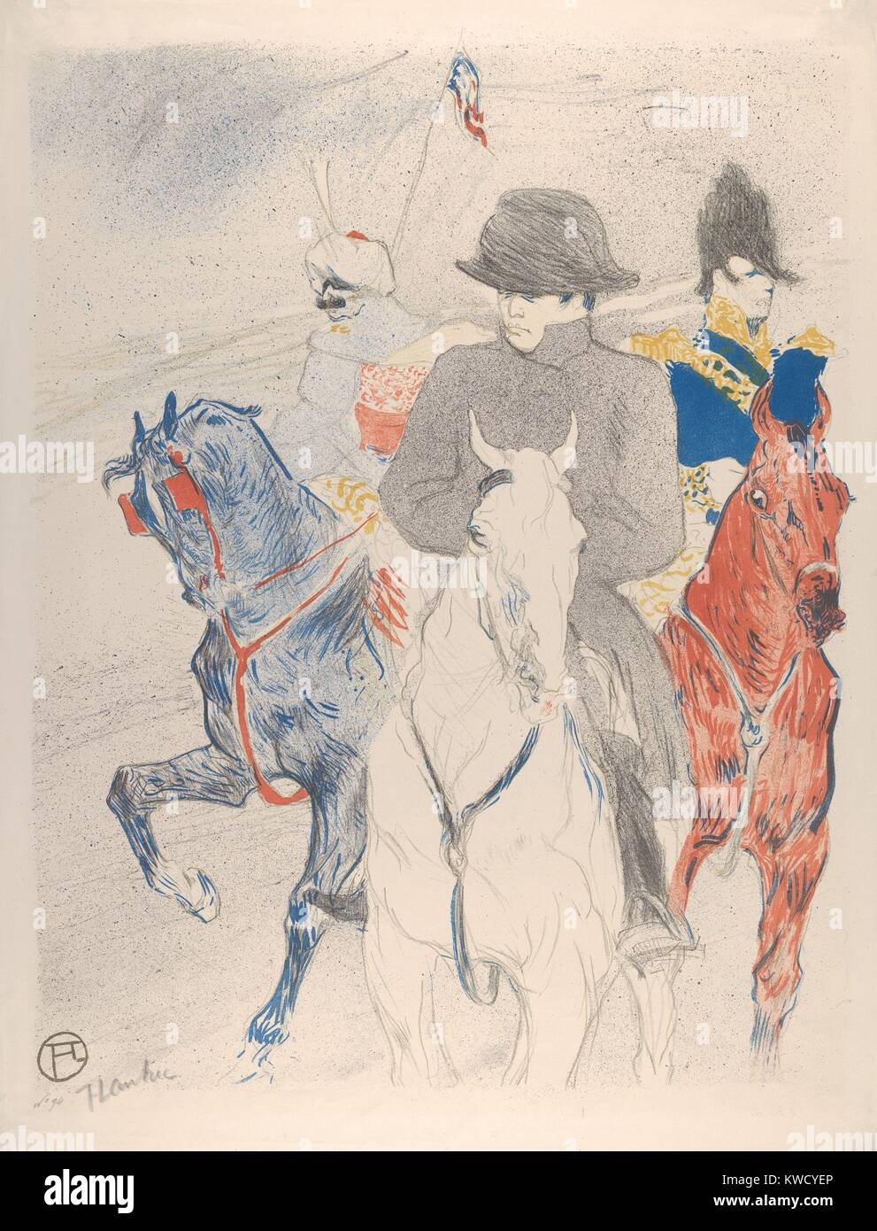 Napoleon, by Henri de Toulouse-Lautrec, 1895, French Post-Impressionist print. This lithograph is based on a drawing Stock Photo