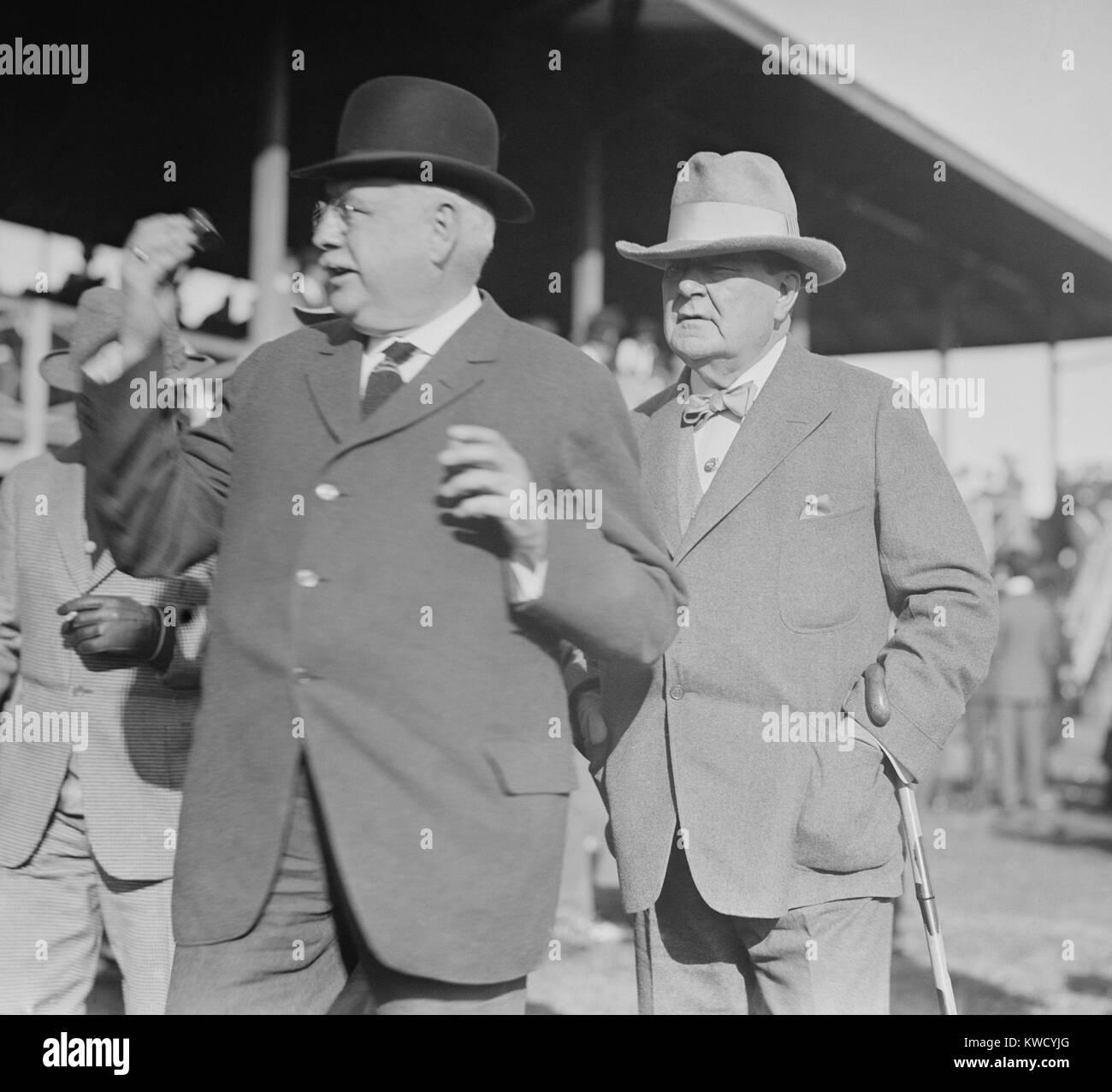 Diamond Jim Brady, an American businessman, financier, and philanthropist, c. 1900. The 1935 film DIAMOND JIM by - Stock Image
