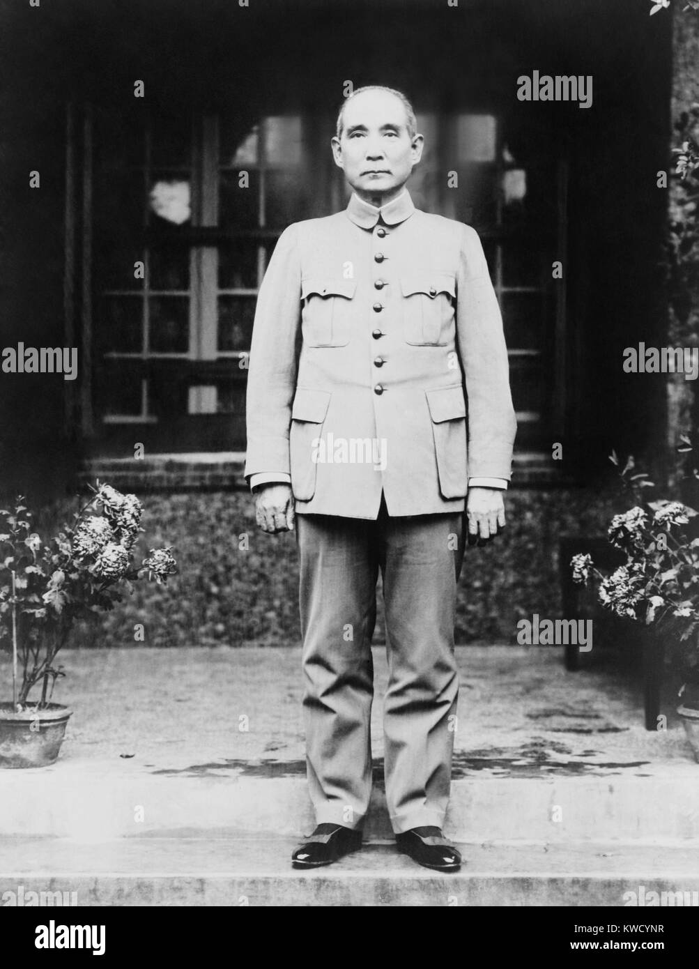 Sun Yat-sen, leader of the Canton Government, c. 1920. He was the first Revolutionary President of the new Chinese Stock Photo