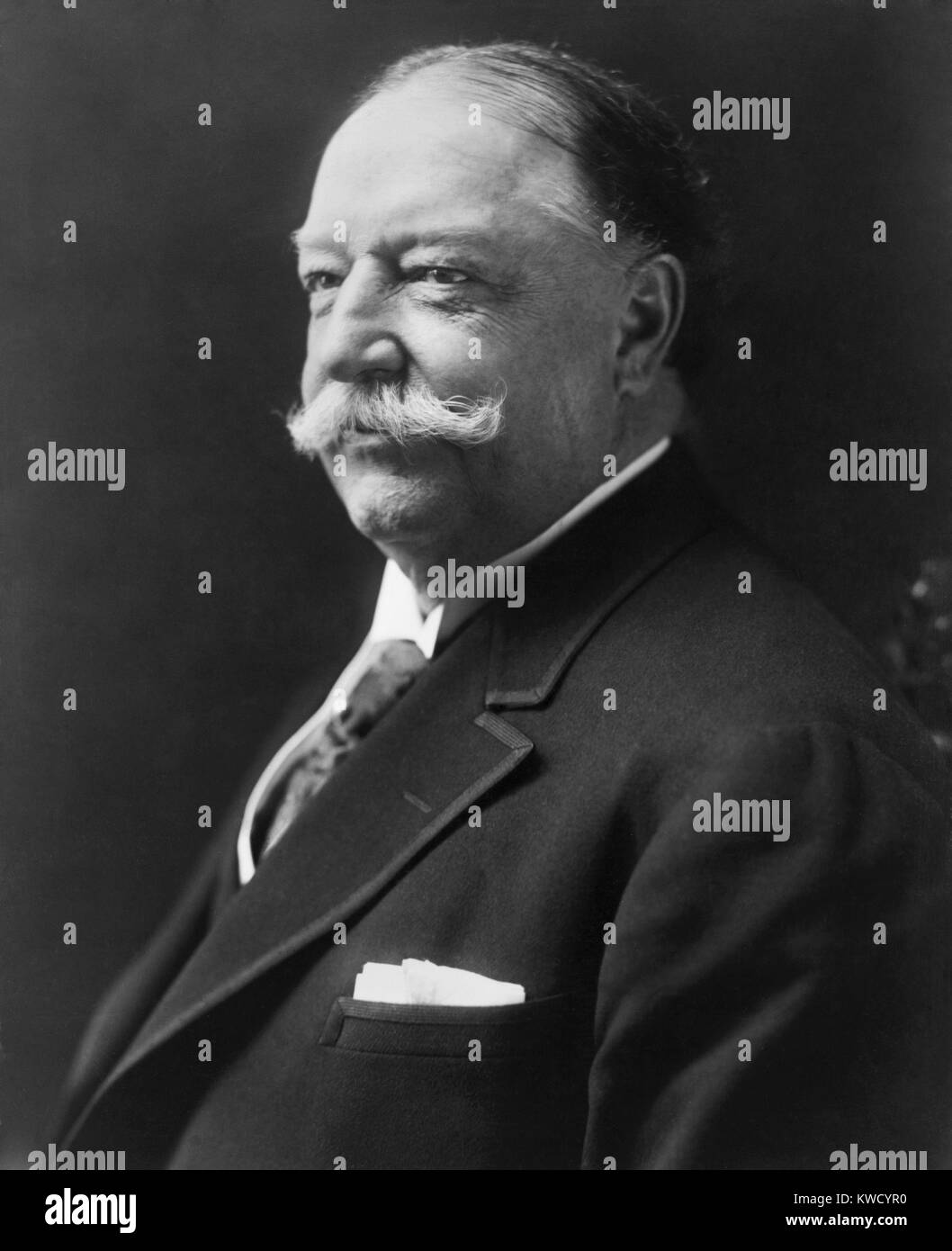 Former President William H. Taft, in 1916. He was then Kent Professor of Law and Legal History at Yale Law School. Stock Photo