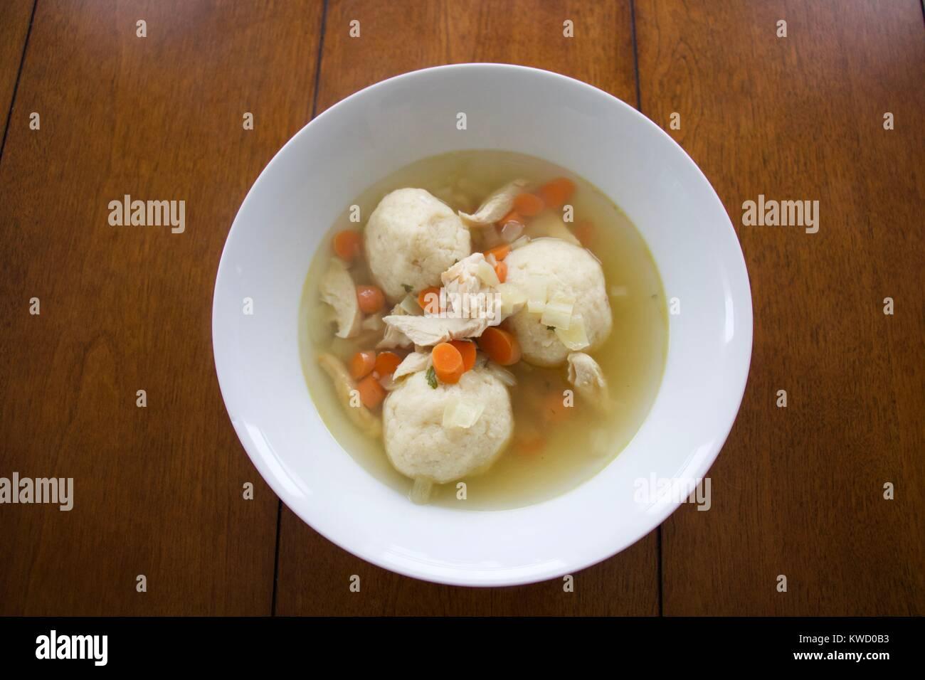 Matzah Ball Soup - Stock Image