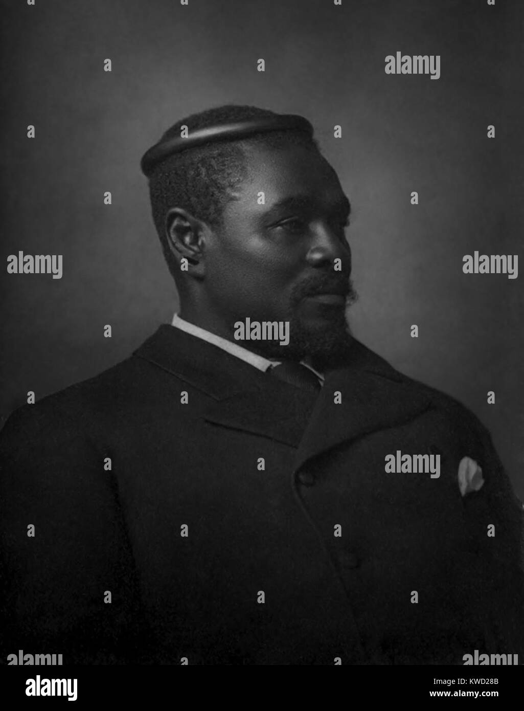 King Cetshwayo led the independent state of Zululand during the Anglo-Zulu War of 1879. British demands for his - Stock Image