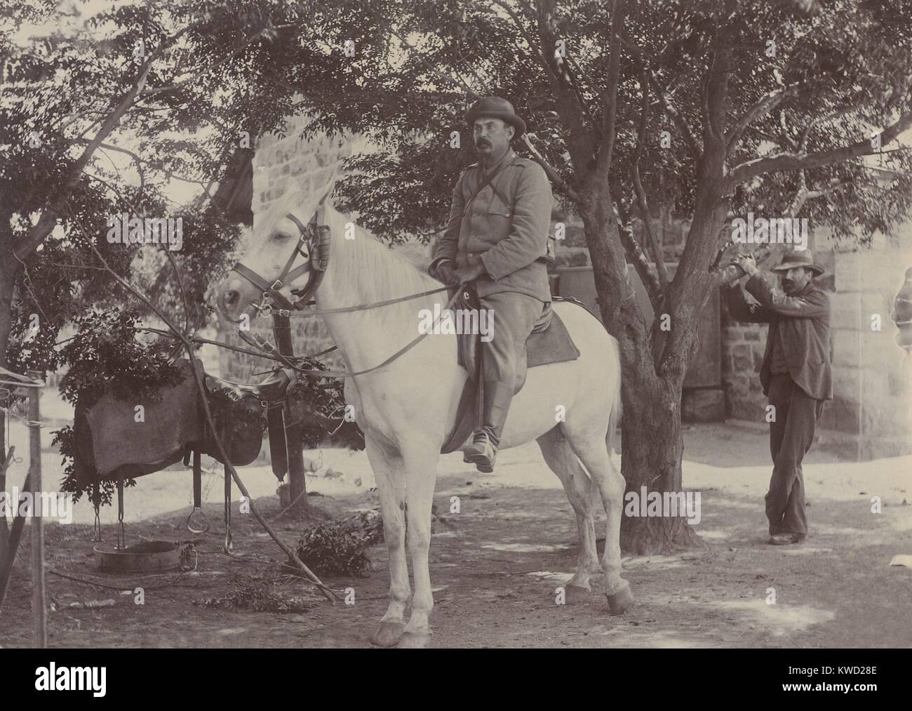 Afrikaner General Louis Botha, during the Boer War with Britain, 1899-1900. In 1910, he became first Prime Minister - Stock Image