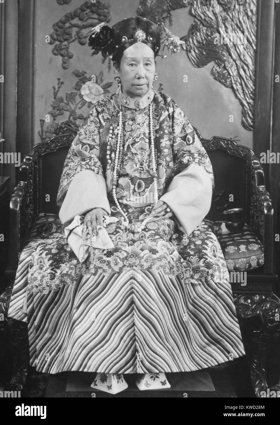 The Empress Dowager Cixi (Tzu-His), was the dominant Royal in China from 1861-1908. She first ruled as Regent for - Stock Image