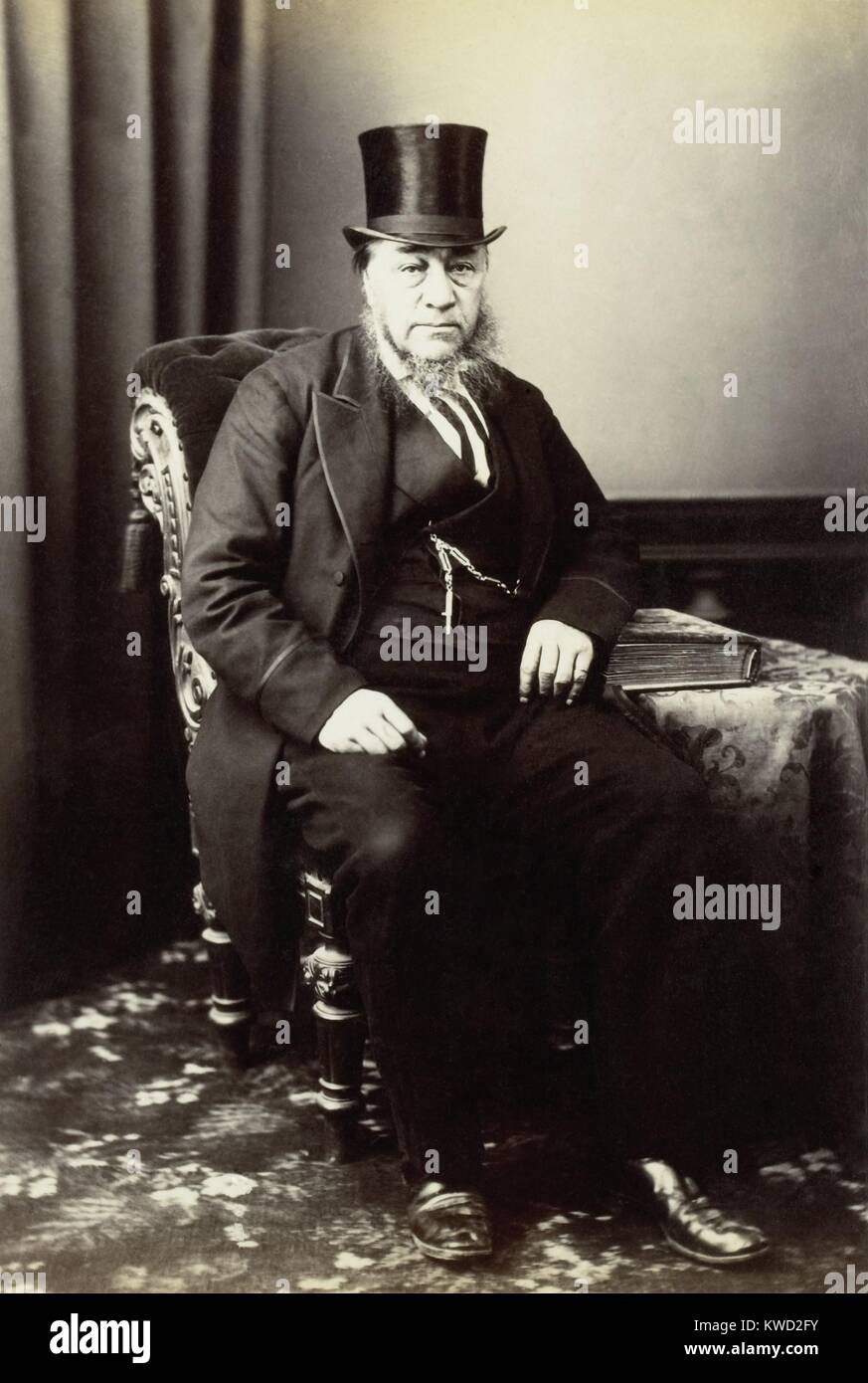 Paul Kruger, President of the South African Republic, 1883-1900. He led the Afrikaners, settlers of Dutch Ancestry, - Stock Image