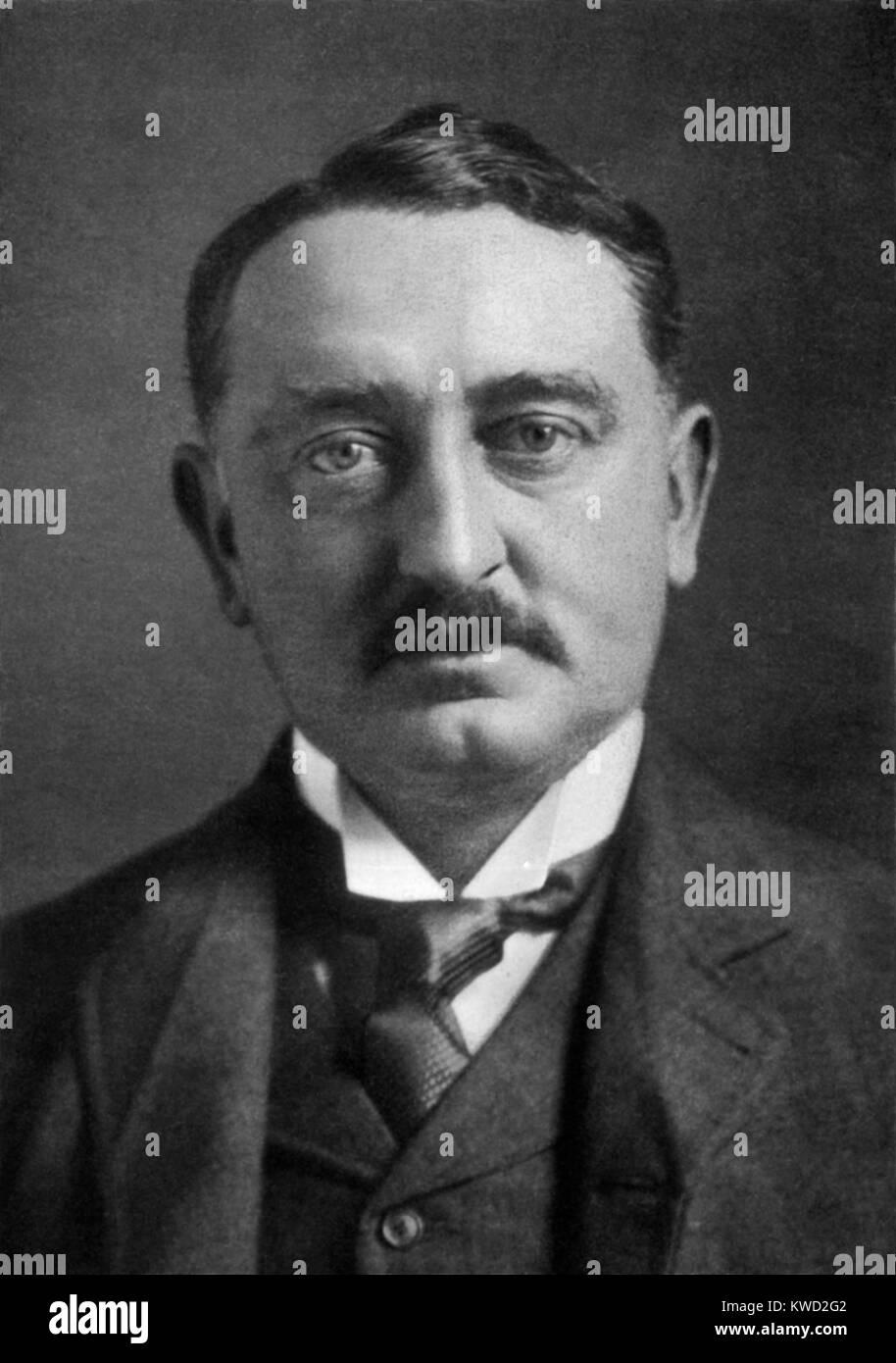 Cecil Rhodes, c. 1890, advanced the British colonial interests in South Africa. He leveraged the fortune made in - Stock Image
