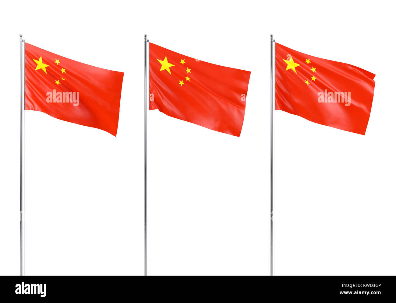 Flag of Republic of China, 3D rendering - Stock Image