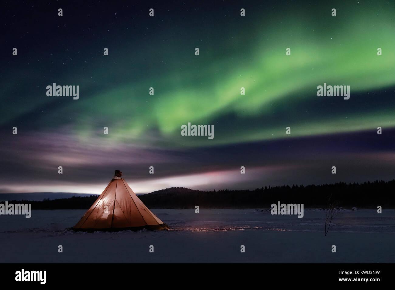Mattsund,  Lulea, Swedish Lapland, Sweden, Europe - Stock Image