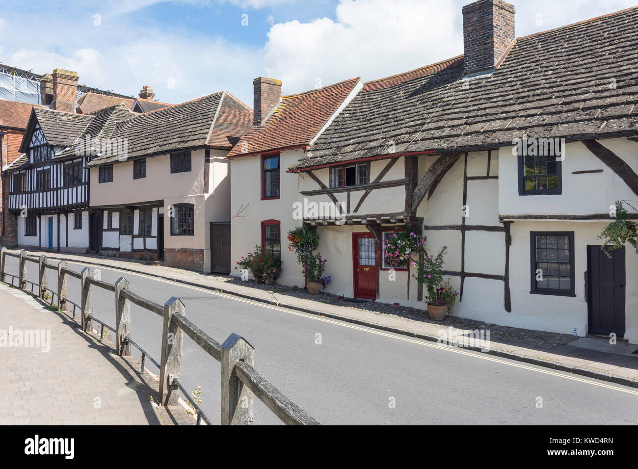 Timber-framed houses on Church Street, Steyning, West Sussex, England, United Kingdom - Stock Image