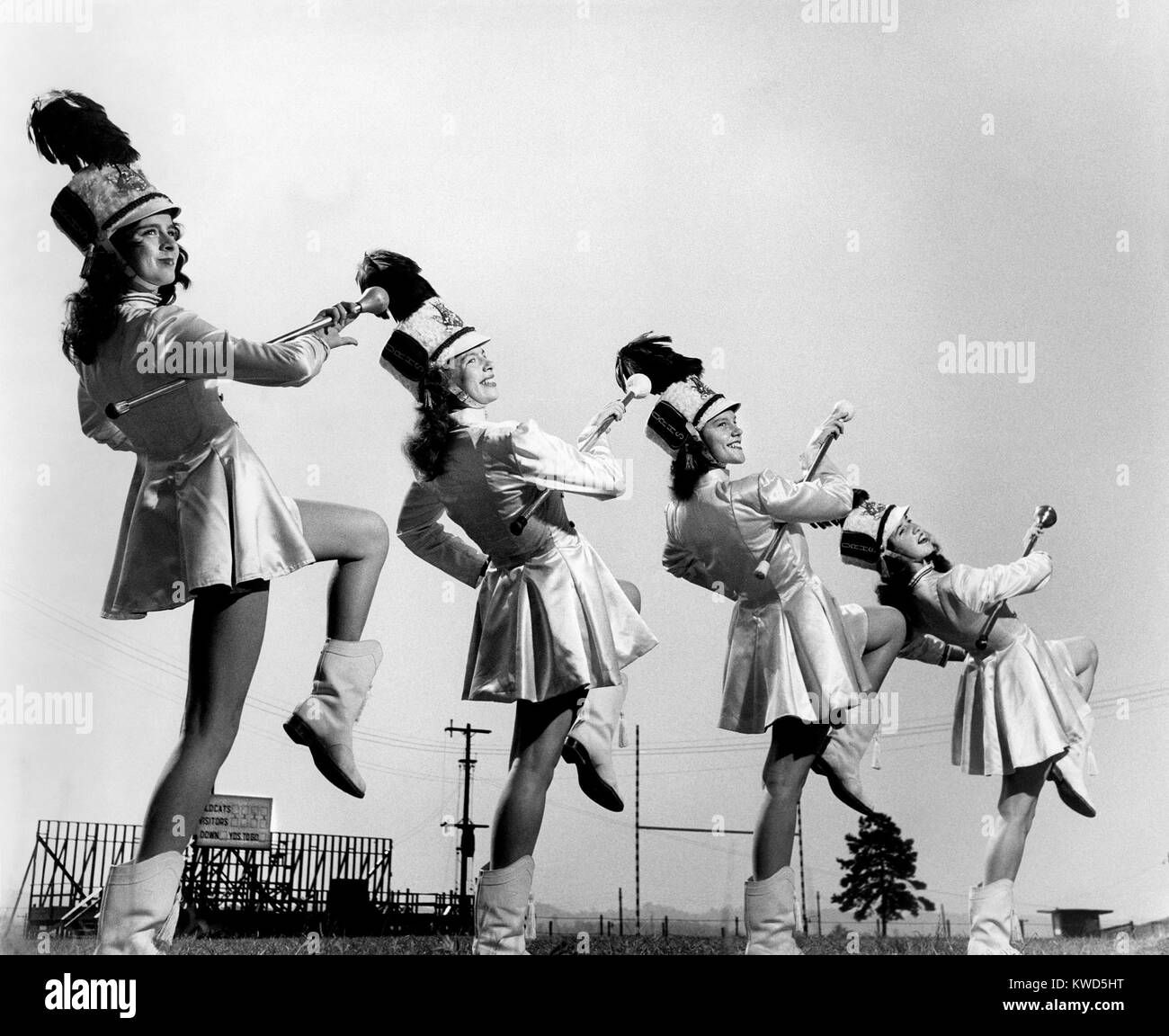 Group Of Drum Majorettes Stock Photos & Group Of Drum
