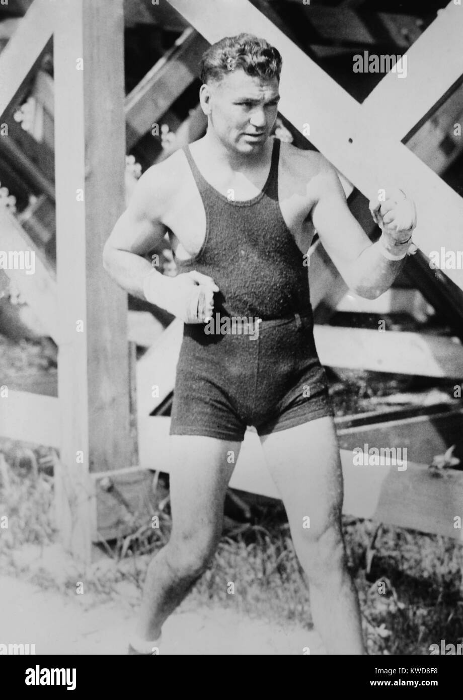 Jack Dempsey, the World Heavyweight Boxing Champion from 1919 to