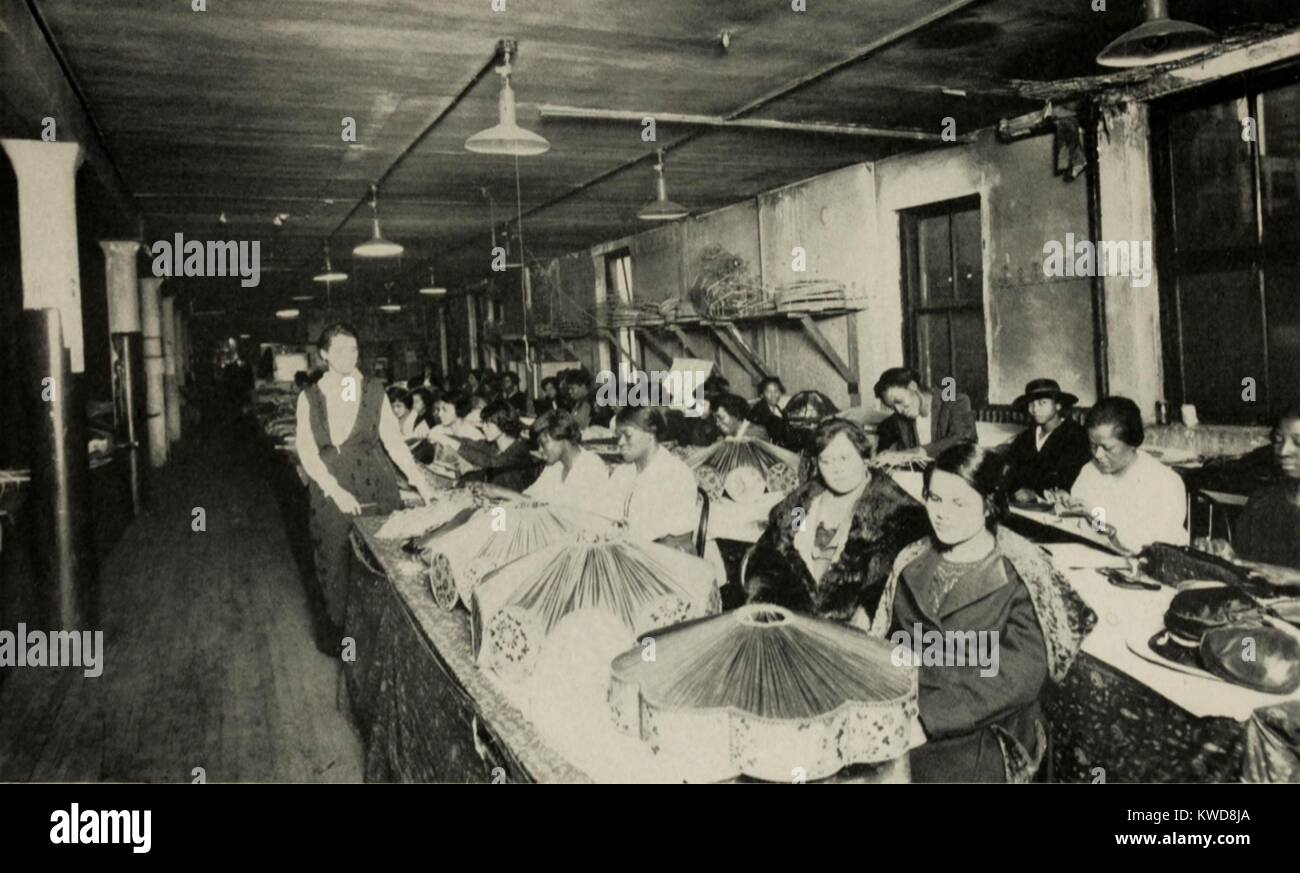 African american women working in a lampshade factory in chicago ca african american women working in a lampshade factory in chicago ca 1920 approximately 40 women worked in a sweatshop supervised by a white woman aloadofball Gallery