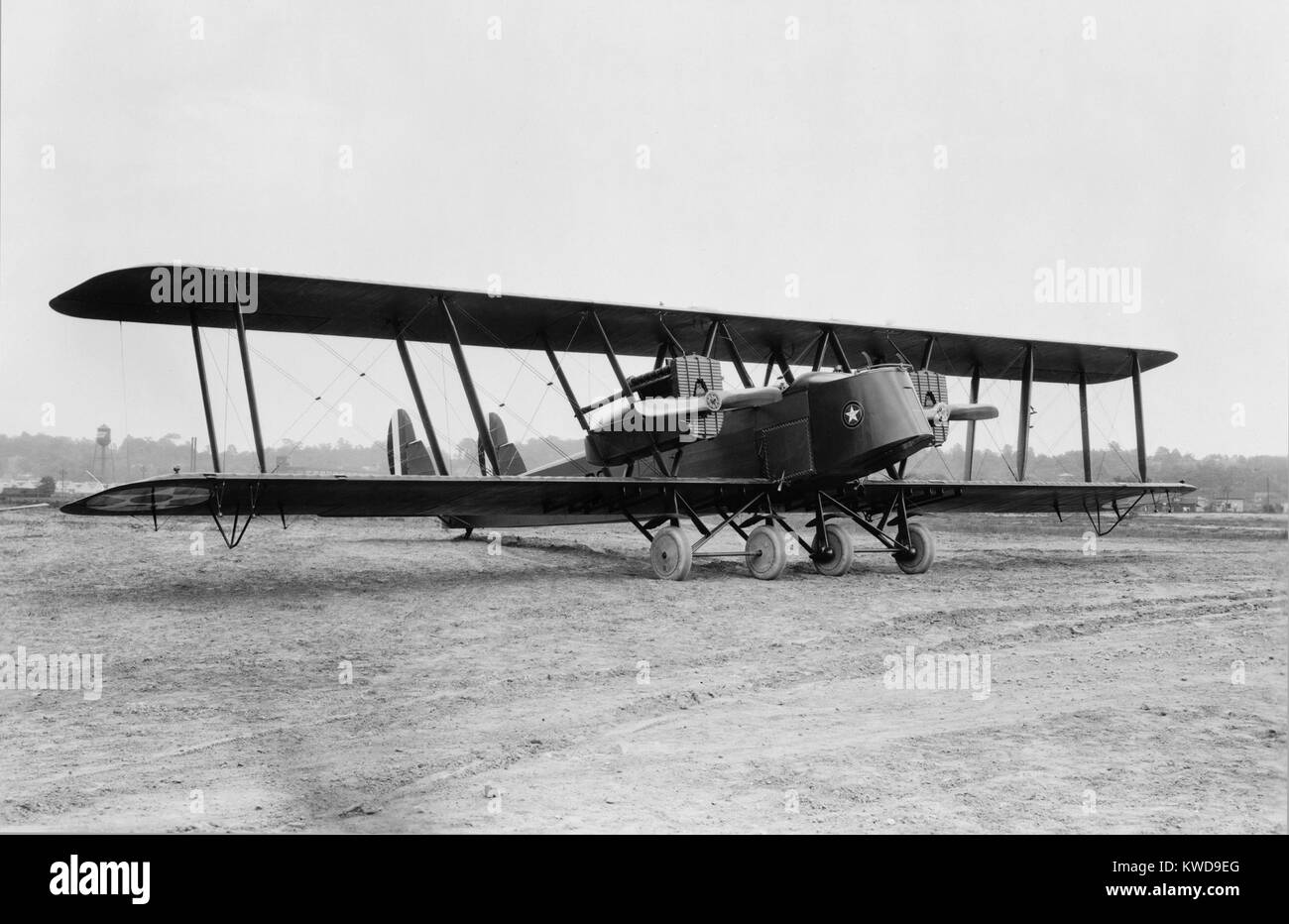 British Handley Page transport bi-plane refitted for U.S. Air Mail Service in 1921. It was an early biplane bomber Stock Photo