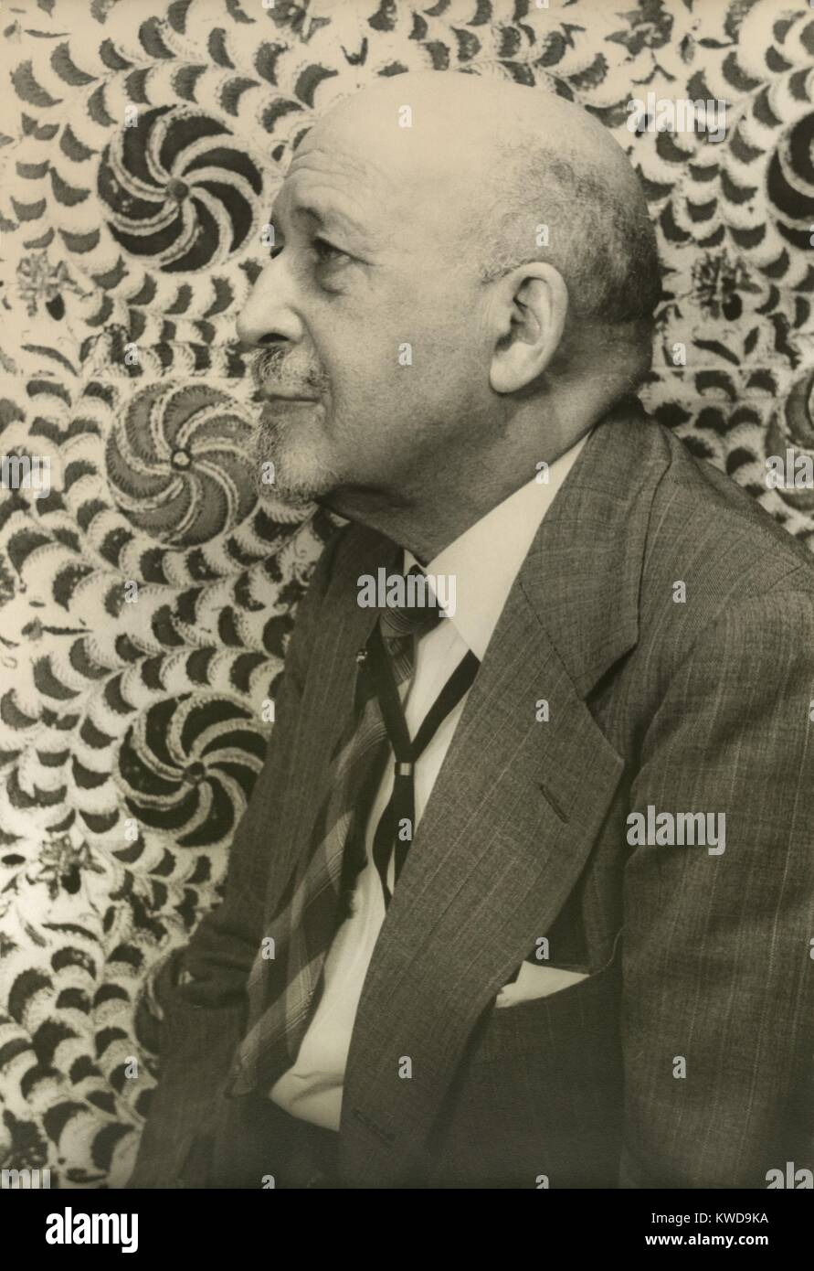 Dr. W.E.B. Du Bois, July 1946 portrait by Carl Van Vechten. At age 79, he continued to cause controversy. The Justice - Stock Image