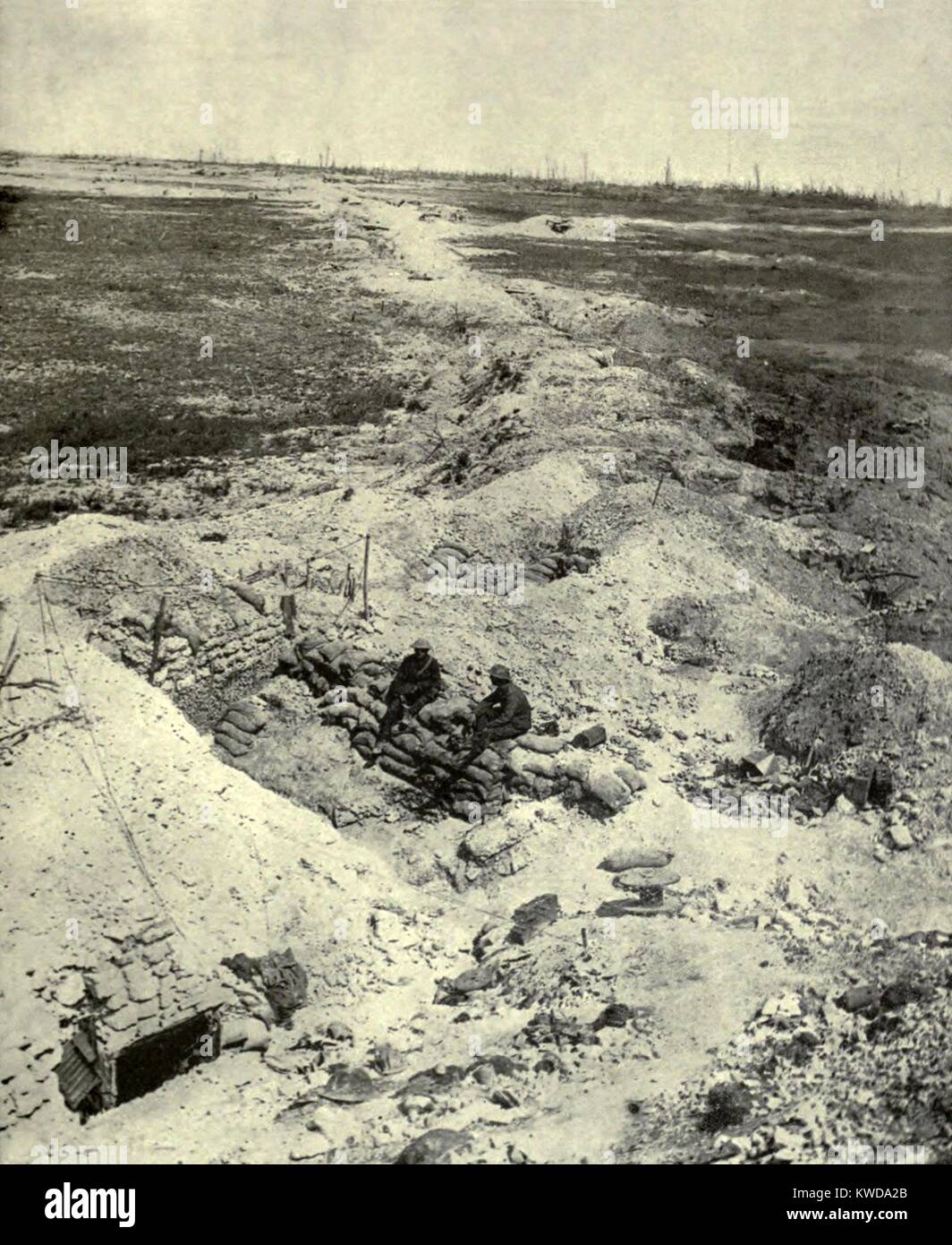 World War 1. Somme Offensive. The most desolate region of the Somme Battlefield near Ovillers-la-Boiselle, an obliterated - Stock Image