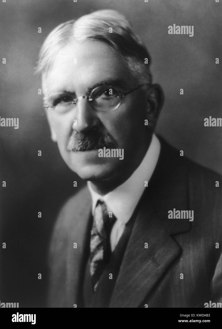 John Dewey, American philosopher, psychologist, and educational reformer. He was associated with the philosophy - Stock Image