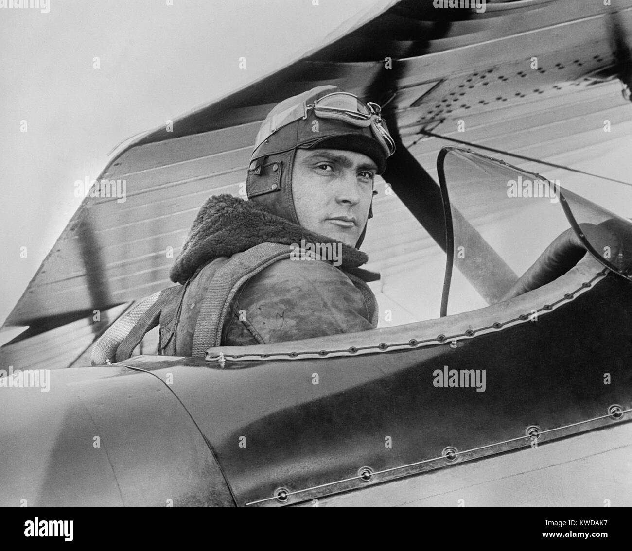 Captain Ira C. Eaker, at Bolling Field, Washington, D.C. Feb. 16, 1929. He was a military aviation pioneer between Stock Photo