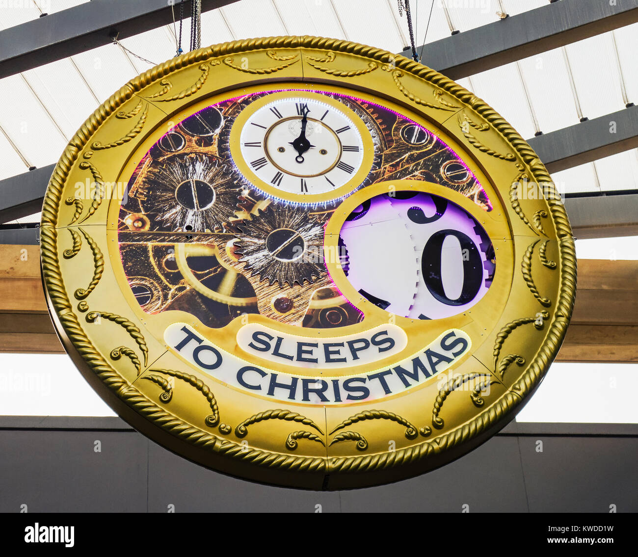 Countdown To Christmas Clock.Christmas Countdown Ends With No Sleeps Until Christmas