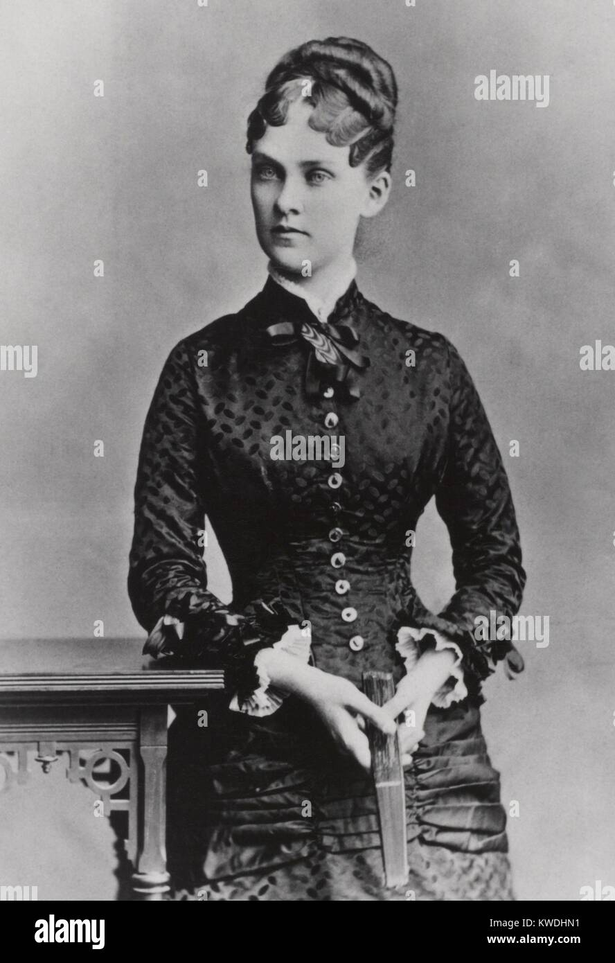 Alice Hathaway Lee Roosevelt, Theodores Roosevelt first wife and mother of Alice Roosevelt. She was married to Roosevelt - Stock Image