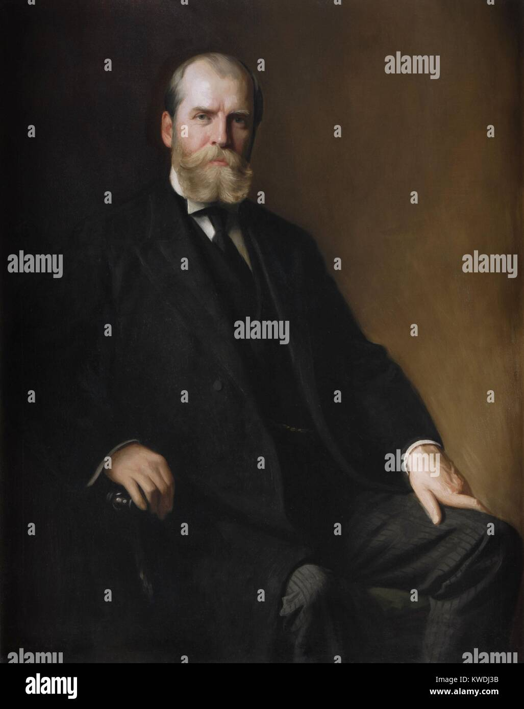Charles Evans Hughes official portrait as Governor of New York State from 1907-1910. In 1910 he was appointed to - Stock Image