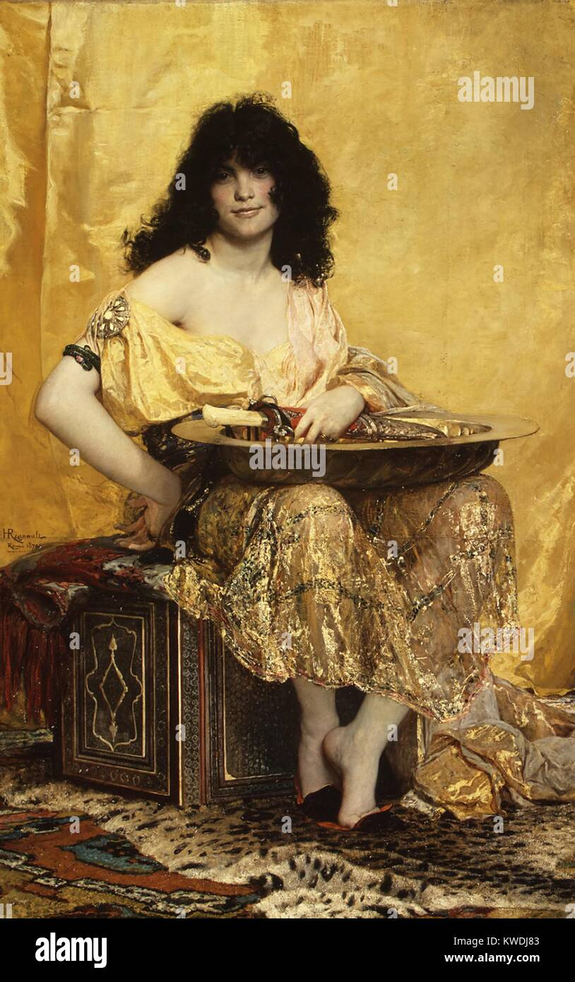 SALOME, by Henri Regnault, 1870, French painting, oil on canvas. The biblical Salome is depicted after she danced - Stock Image