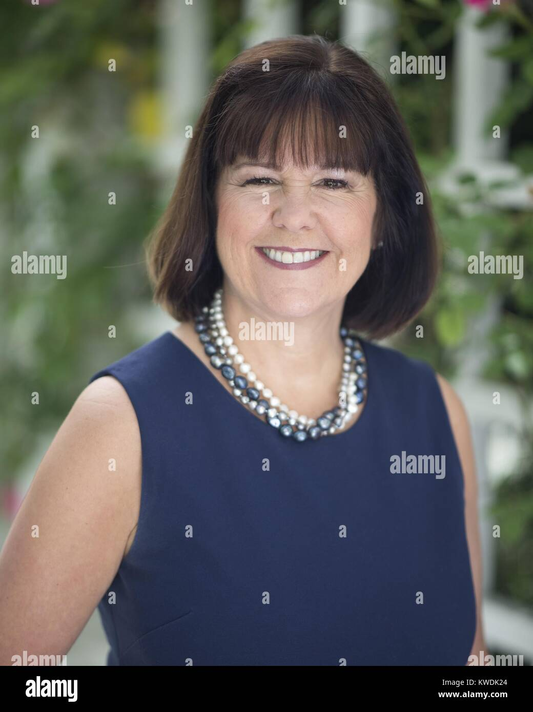 Official photo of Second Lady Karen Pence, by White House Photographer, Allaina Parton, May 16, 2017. Karen Pence - Stock Image