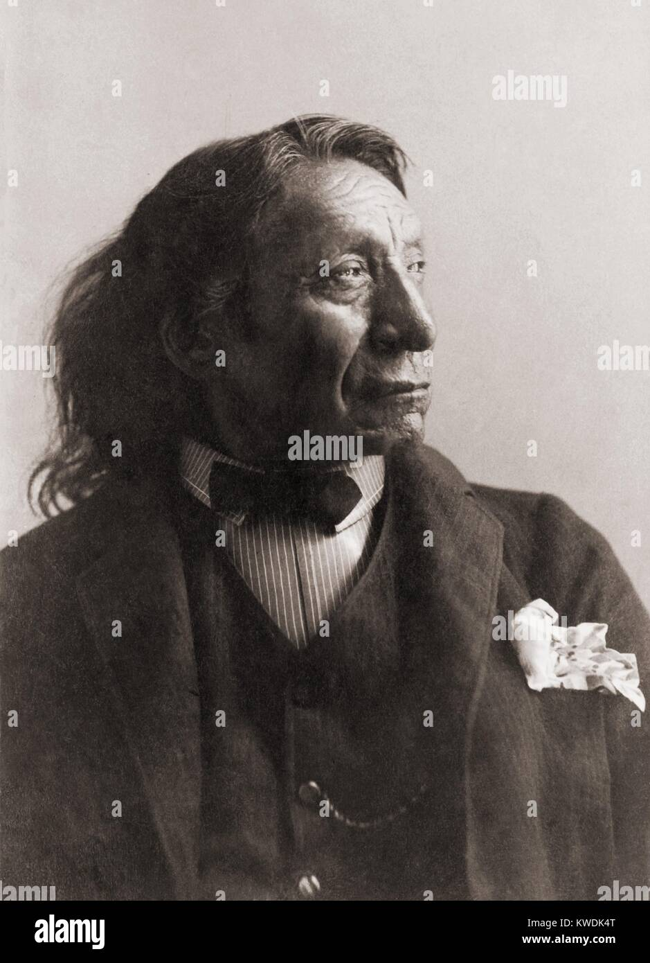 Chief Red Cloud, Oglala division of Lakota, Sioux, c. 1891. A great warrior, fought against the US Army in Red Clouds Stock Photo
