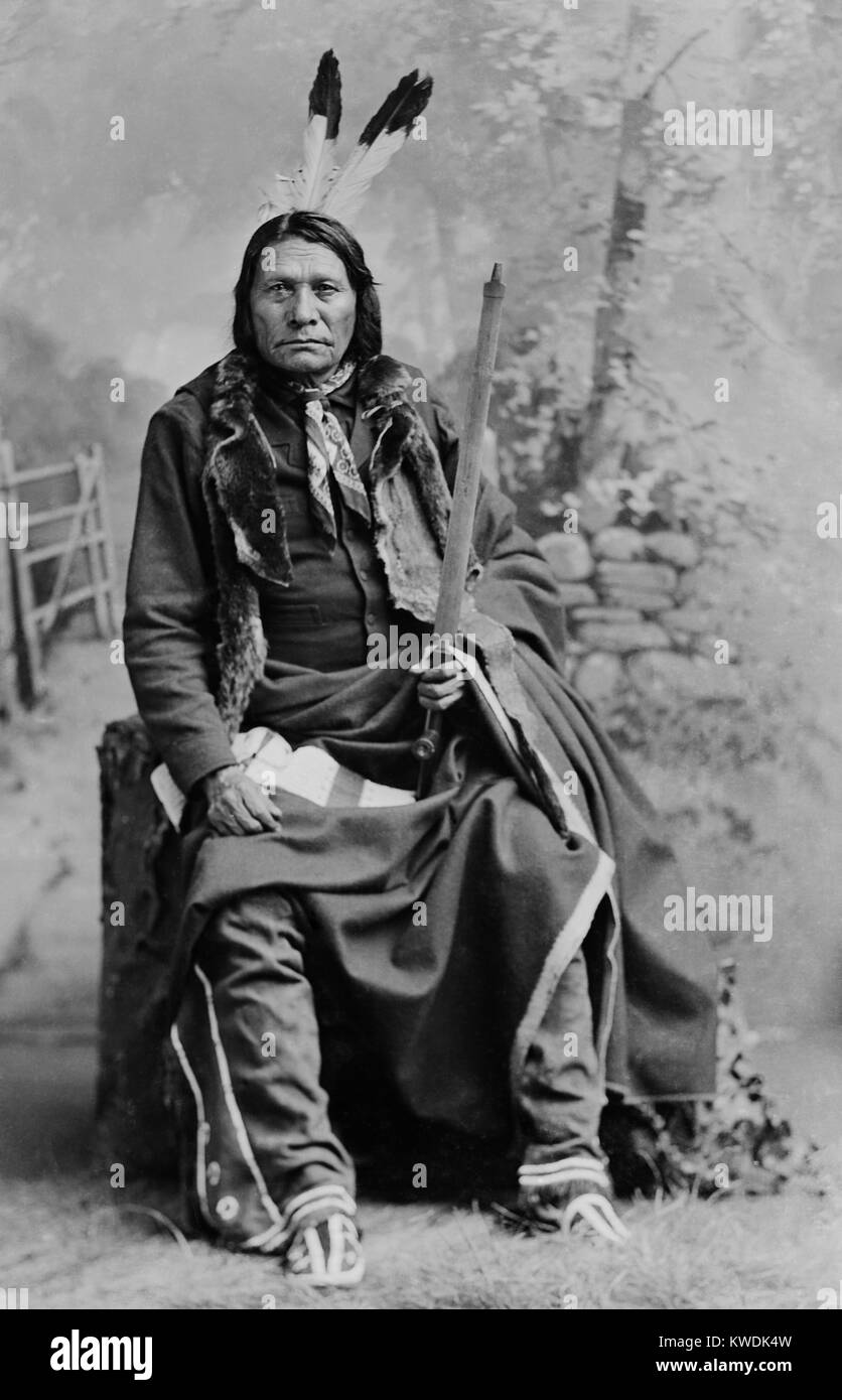 Chief Big Road, Oglala division of Lakota, was a traditionalist who joined the Ghost Dance movement. In 1876 Big Stock Photo