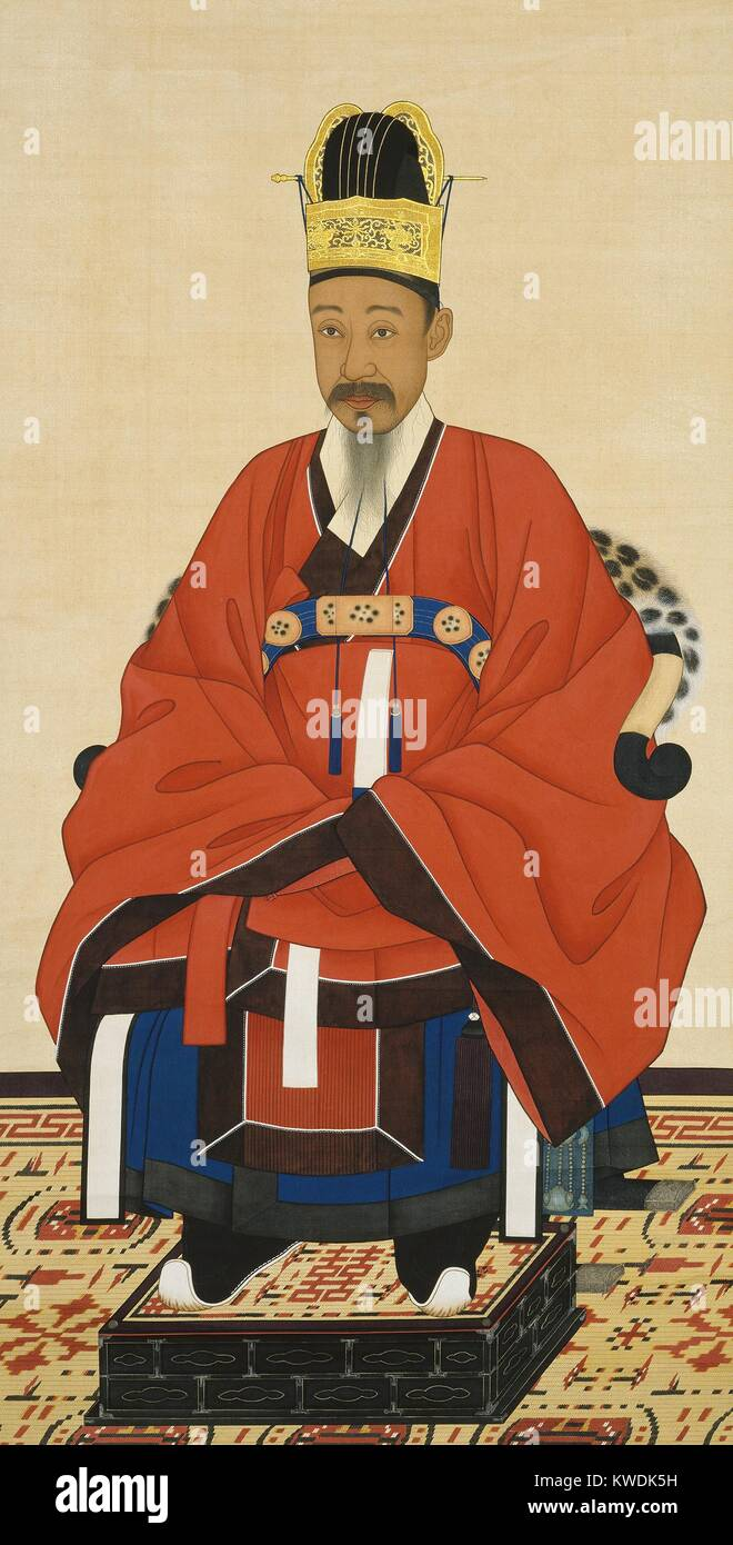 Heungseon Daewongun was regent for his son, Emperor Gojong of Korea (born 1852) from 1863 to 1873. Heungseon Daewongun - Stock Image