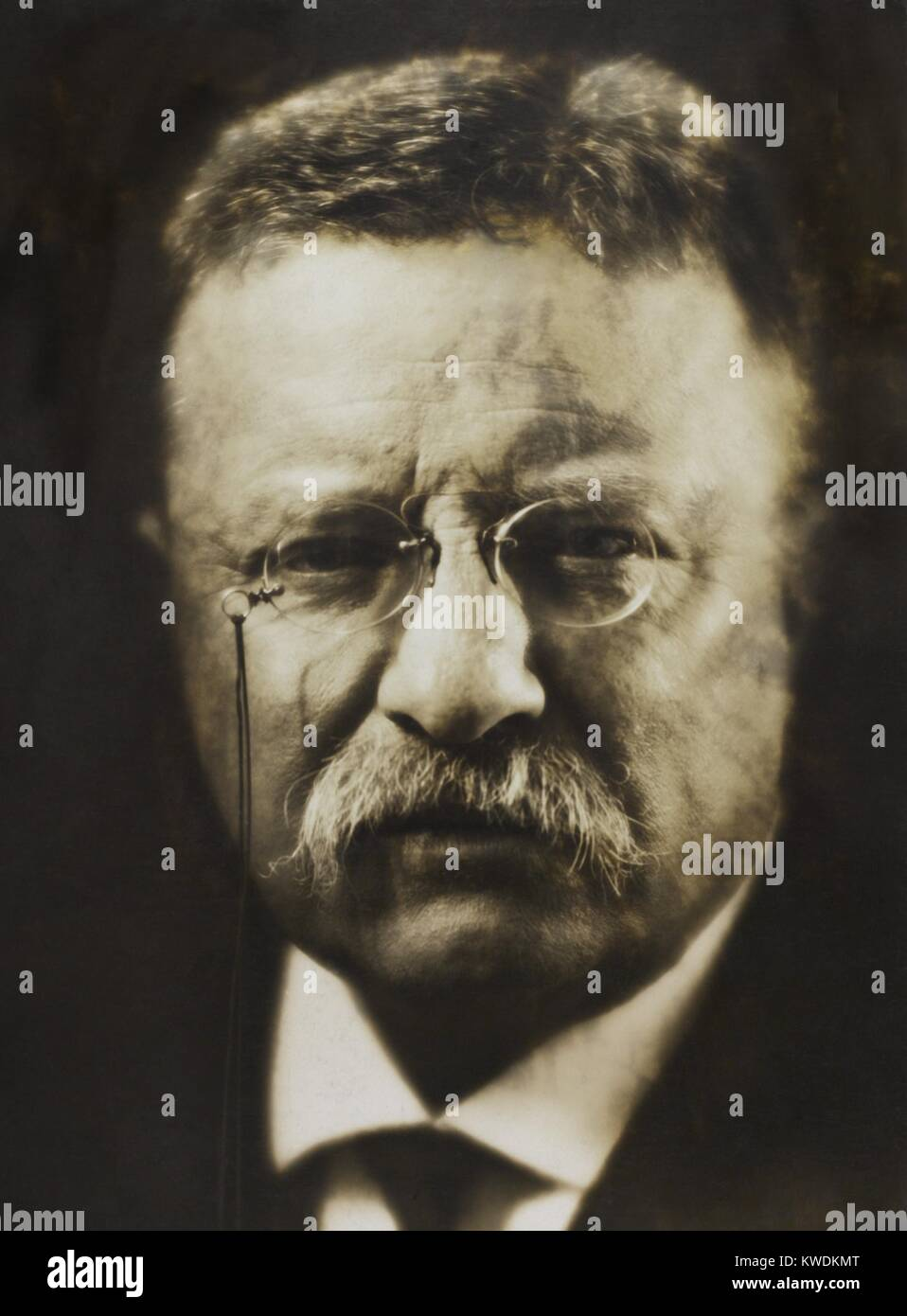 Col. Theodore Roosevelt, April 1917 by noted photographer, Pirie MacDonald. He photographed over 70,000 men during - Stock Image