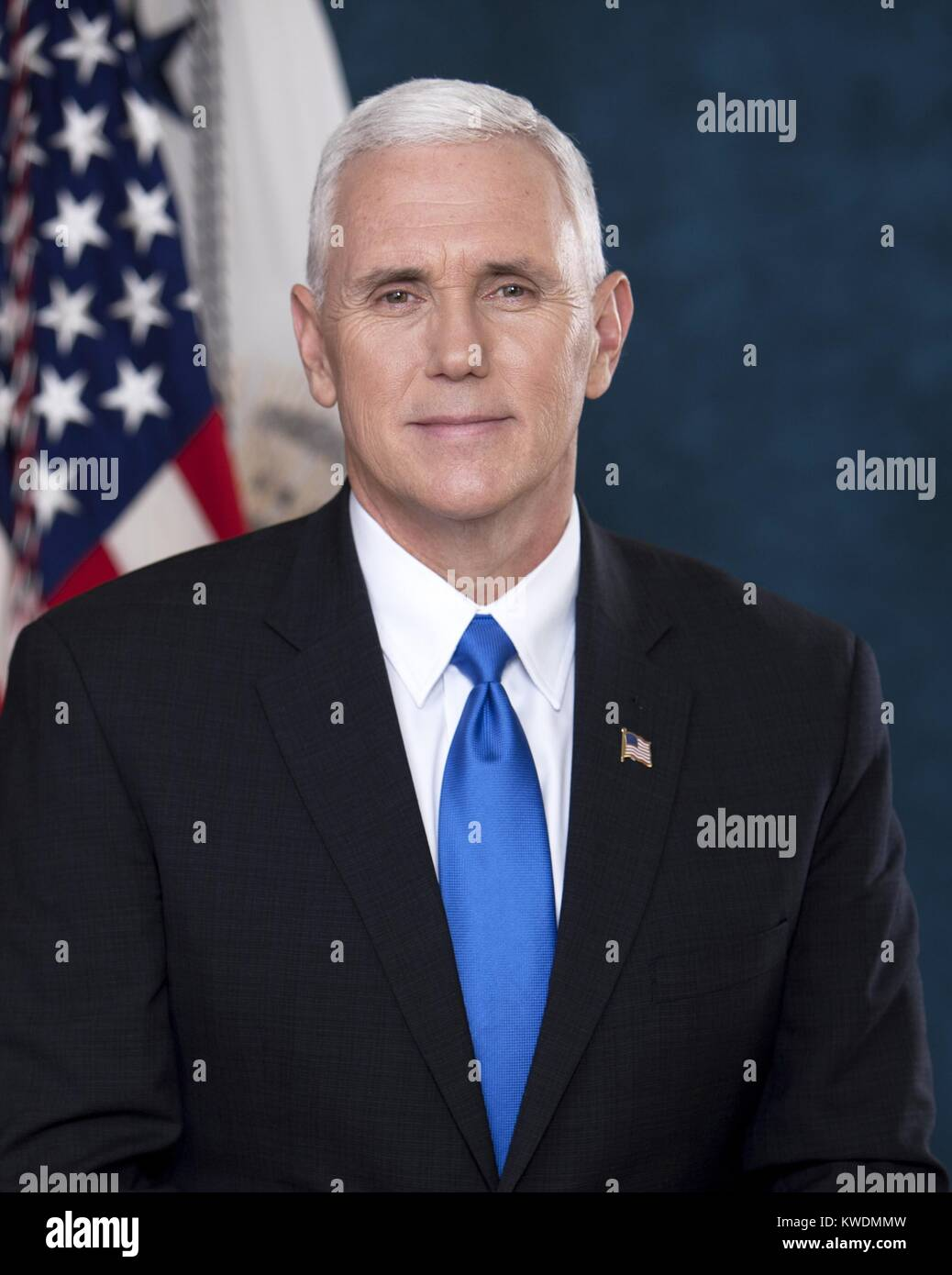 Photo of Vice President-elect Mike Pence taken on 2017-01-28, 2 days before the inauguration. It was posted with - Stock Image