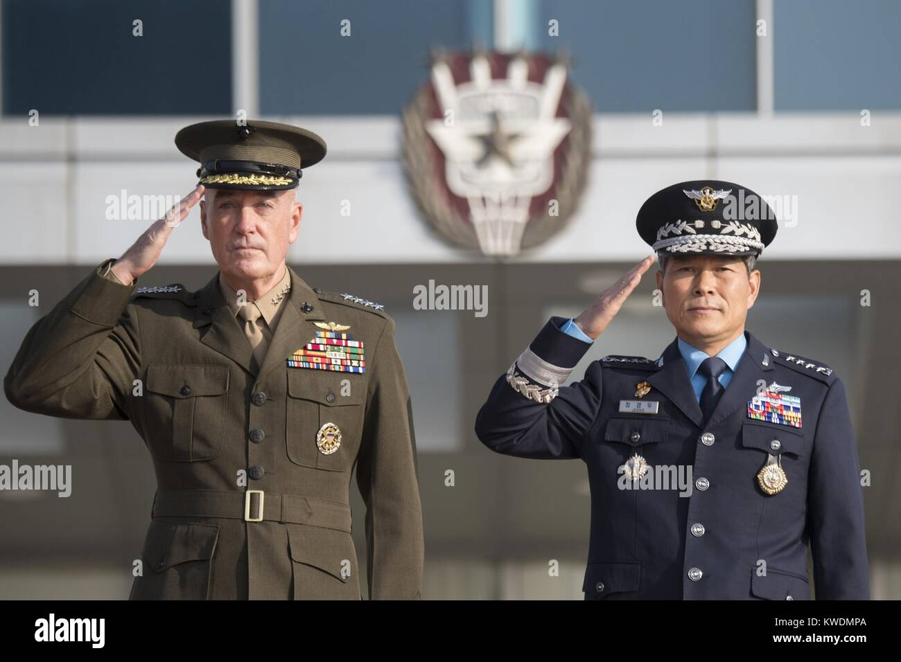 42nd Military Committee Meeting in Seoul, South Korea, Oct. 27, 2017. Marine Corps Gen. Joe Dunford, Chmn., Joint Stock Photo