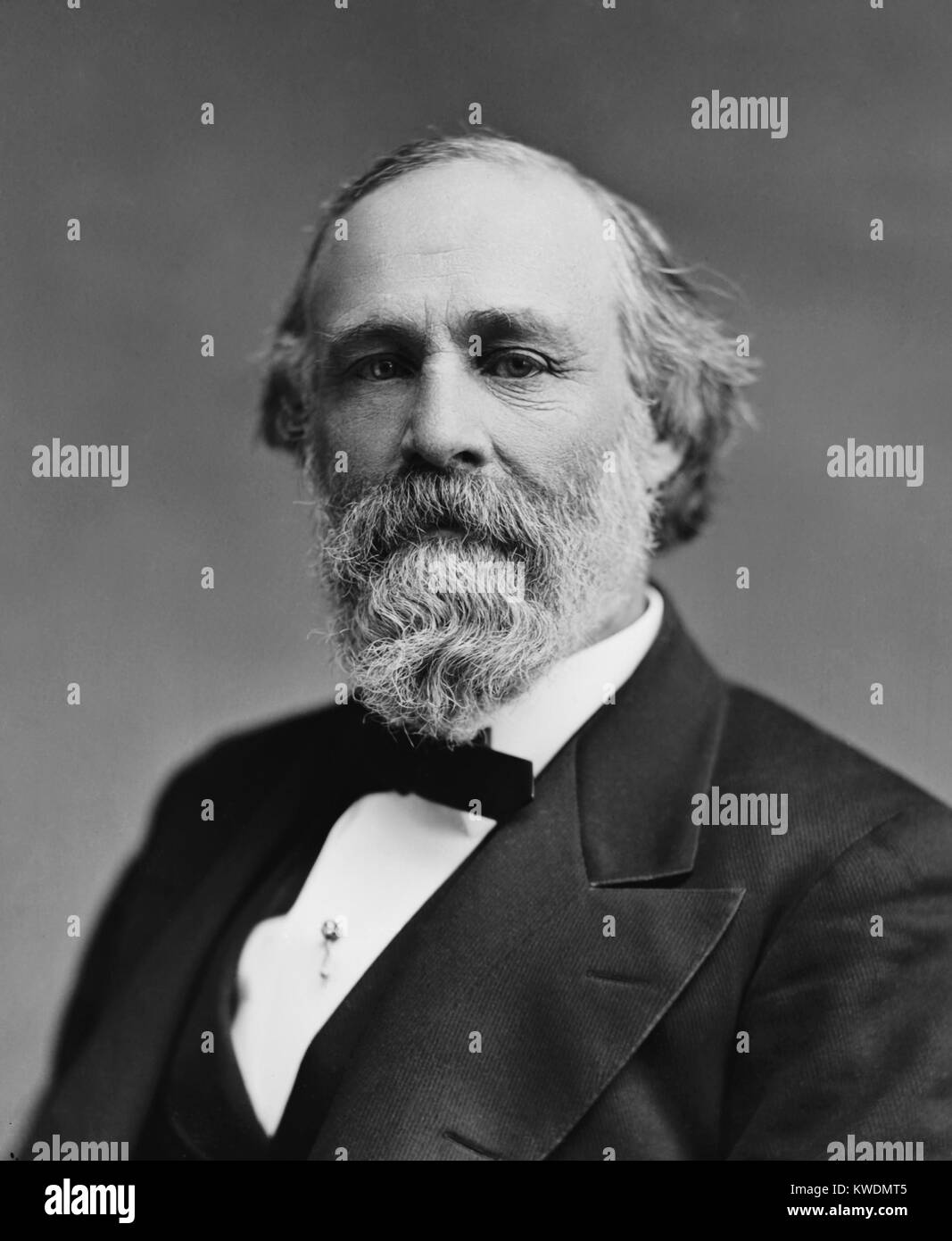 Sen. Henry Dawes, sponsored the 1887, General Allotment Act of 1887. Native Americans lost about two-thirds of their - Stock Image