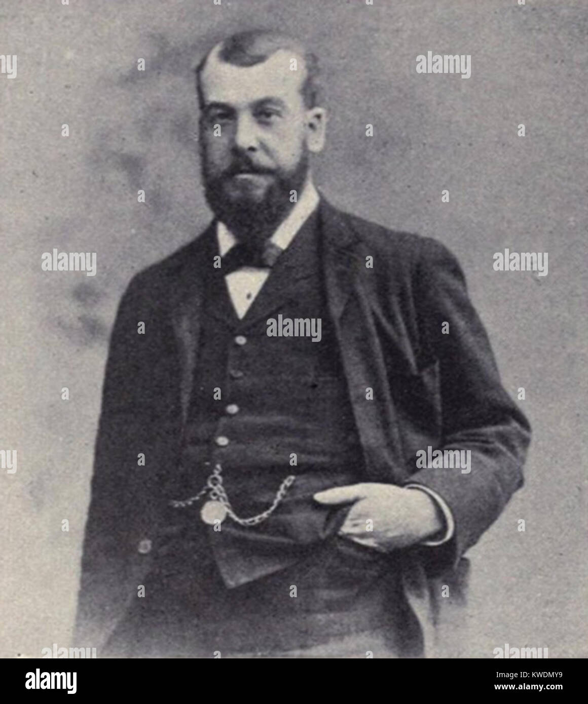 Charles Alfred Cruft, British showman who founded the Crufts dog show - Stock Image
