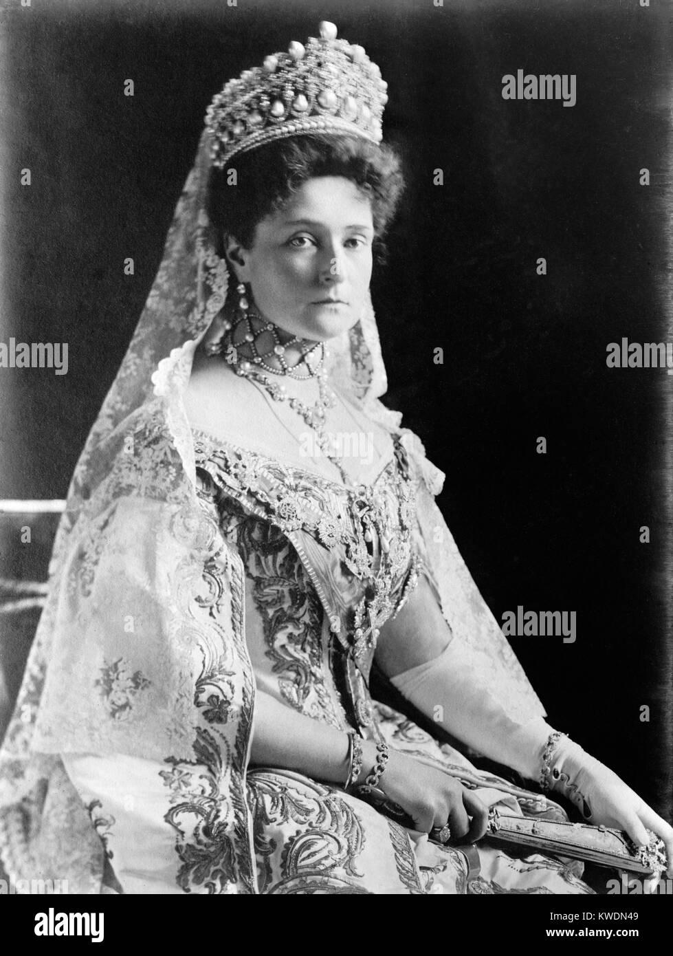 Alexandra Feodorovna, Empress of Russia, Tsaritsa Alexandra Fyodorovna - Stock Image