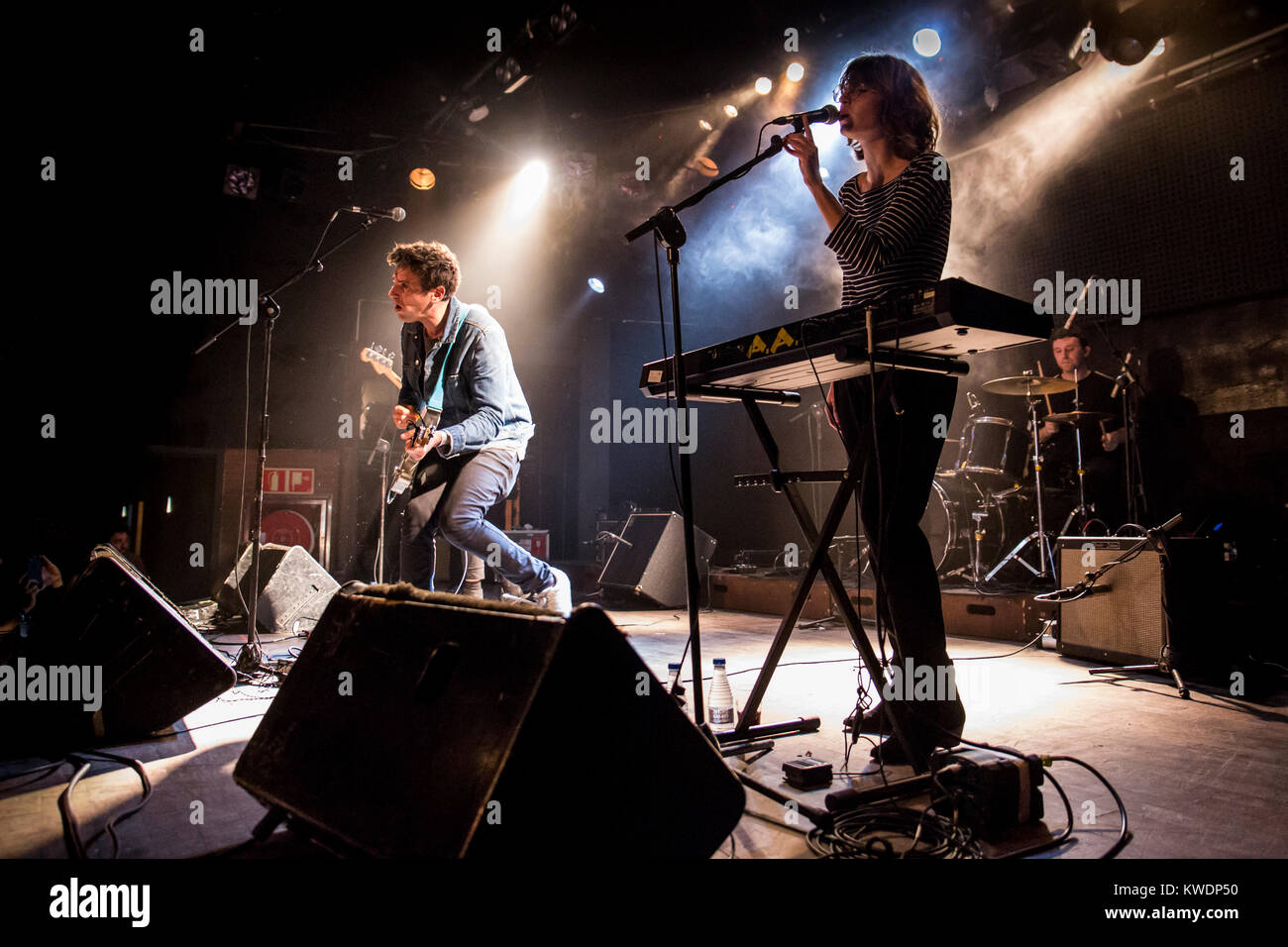 Barcelona, Spain. October 20, 2017. Concert by The Pains of Being Pure at Heart in Sala Bikini. Organized by A Houston - Stock Image