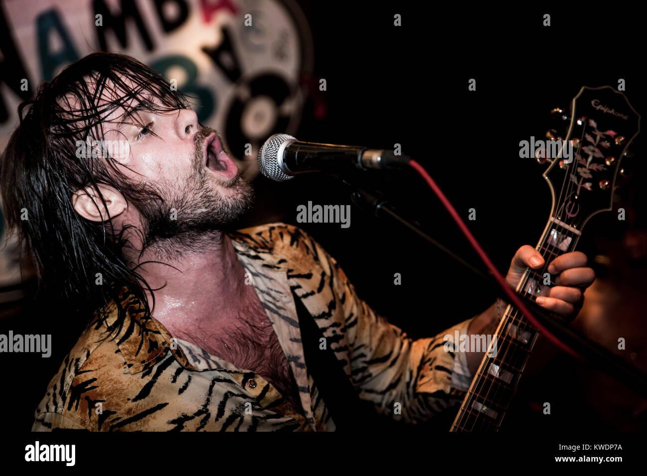 Barcelona, Spain. October 05, 2017. Concert by Los Bengala in Marula Café. Organized by A Wamba Buluba. Photographer: - Stock Image
