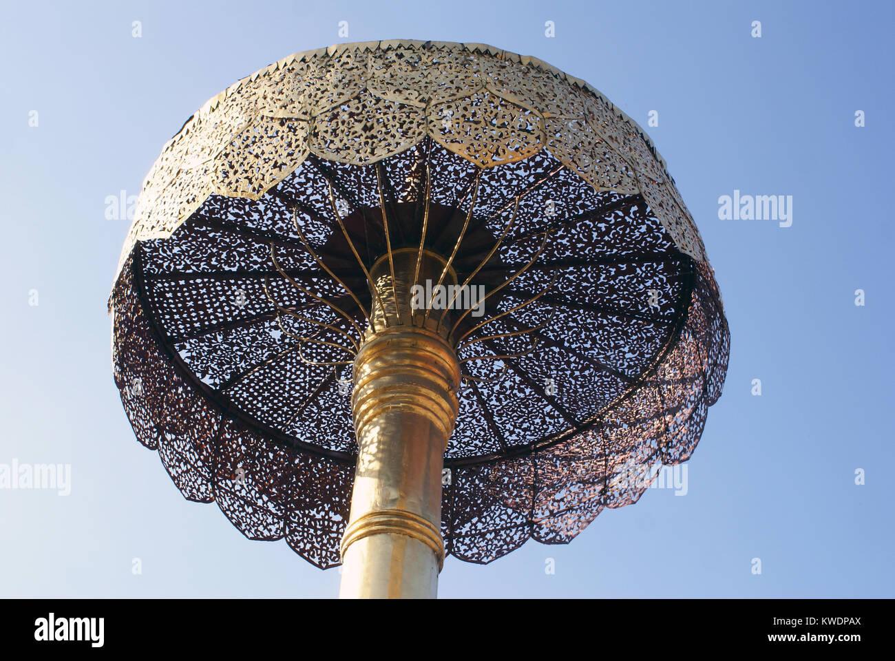 de6ef497e Very big umbrella in Wat Phra That Doi Sutep, Chiang Mai, thailand ...