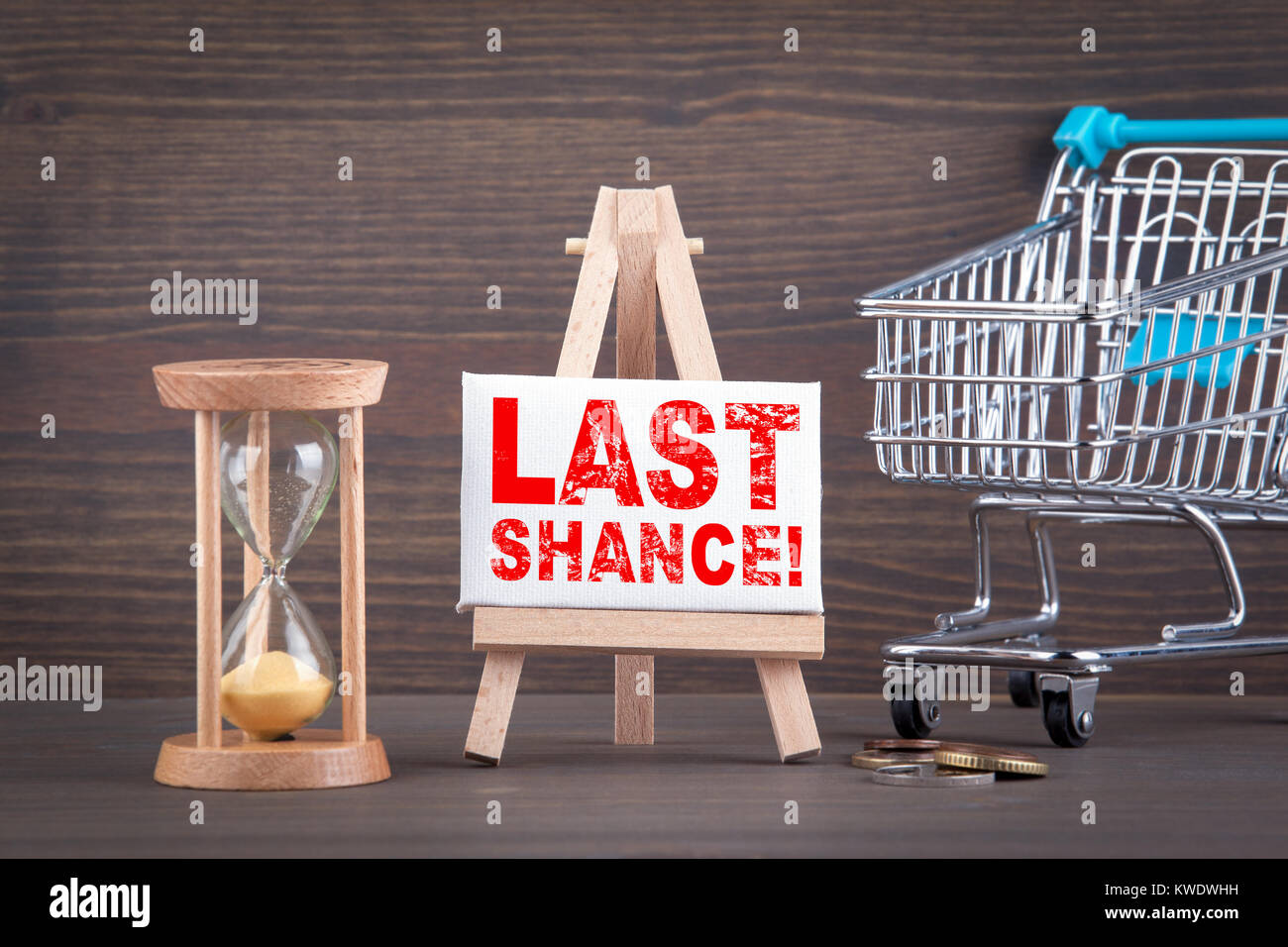 last chance. sale, online store and advertising background - Stock Image