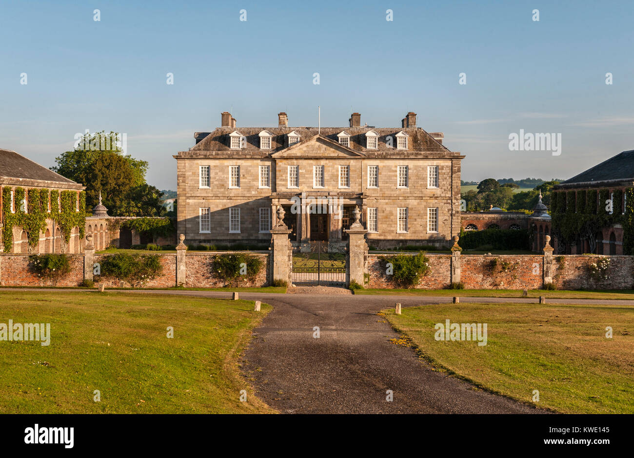 Antony House, Torpoint, Cornwall, UK  The house was built