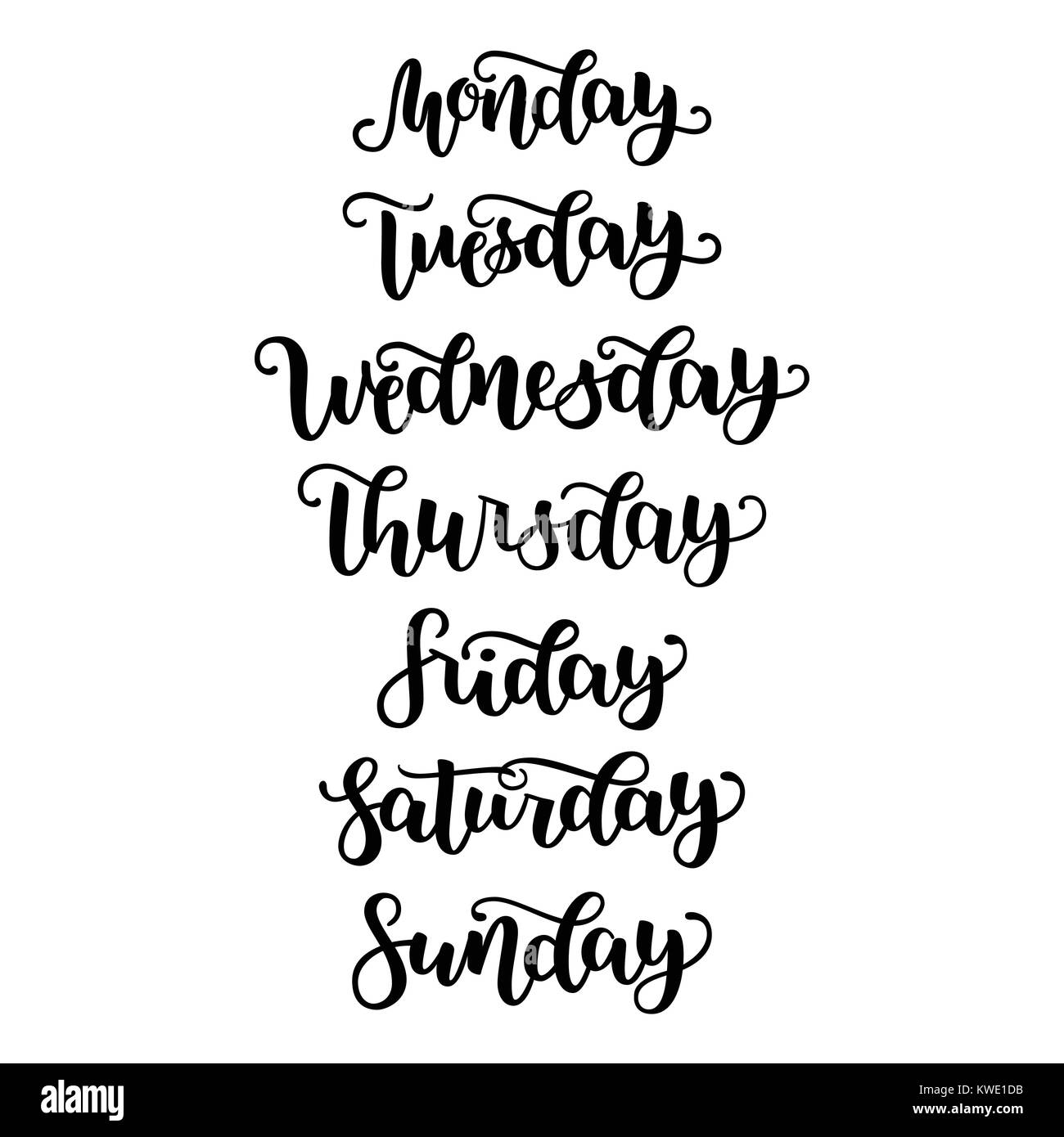 4696333b48 Hand Lettering Days of Week Sunday