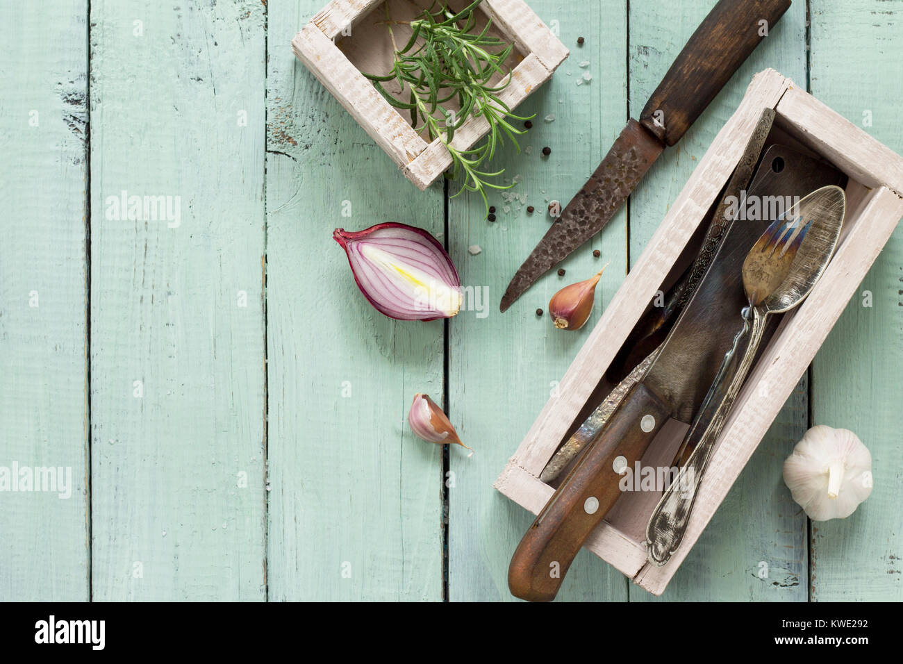 Vintage Kitchen Utensils Stock Photos & Vintage Kitchen Utensils ...