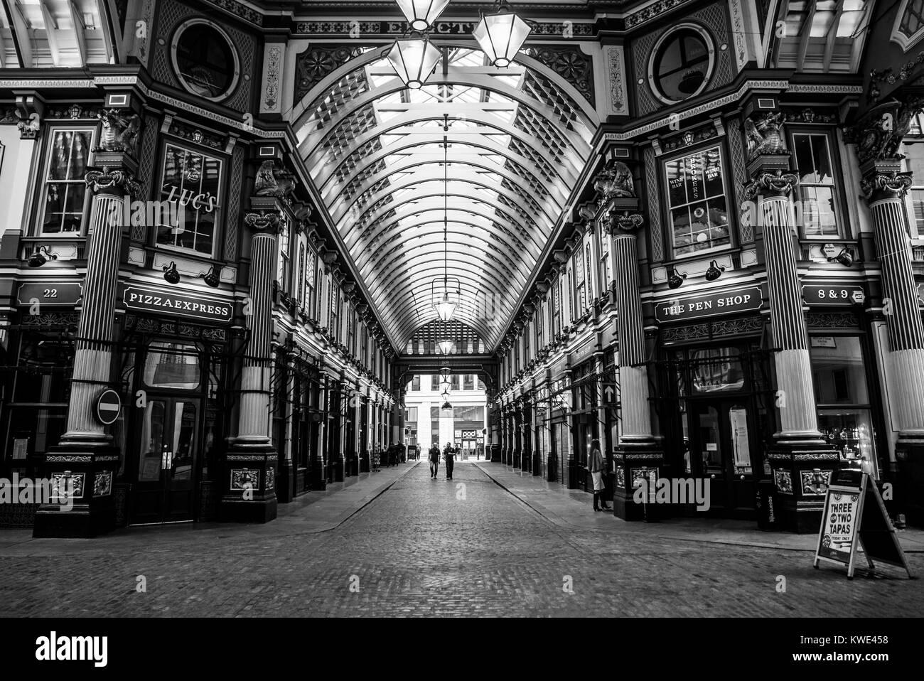 London Leadenhall Market - Stock Image