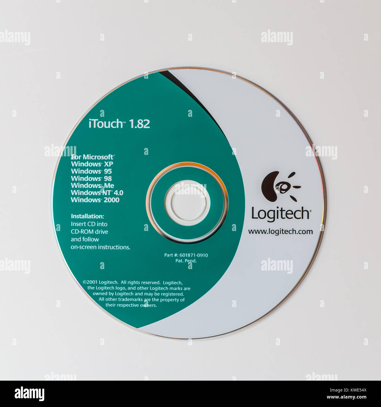 Vintage software installation cd, Logitech mouse itouch 1 82 Stock