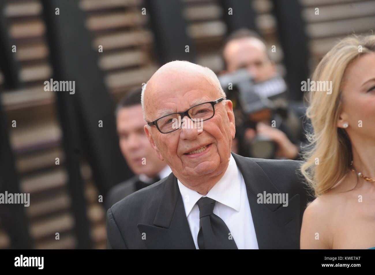 WEST HOLLYWOOD, CA - MARCH 02:  Rupert Murdoch attends the 2014 Vanity Fair Oscar Party hosted by Graydon Carter - Stock Image
