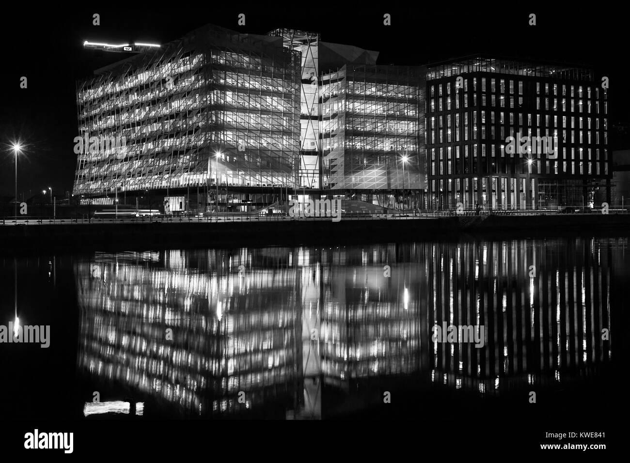Central Bank, Dublin Docklands, Ireland - Stock Image