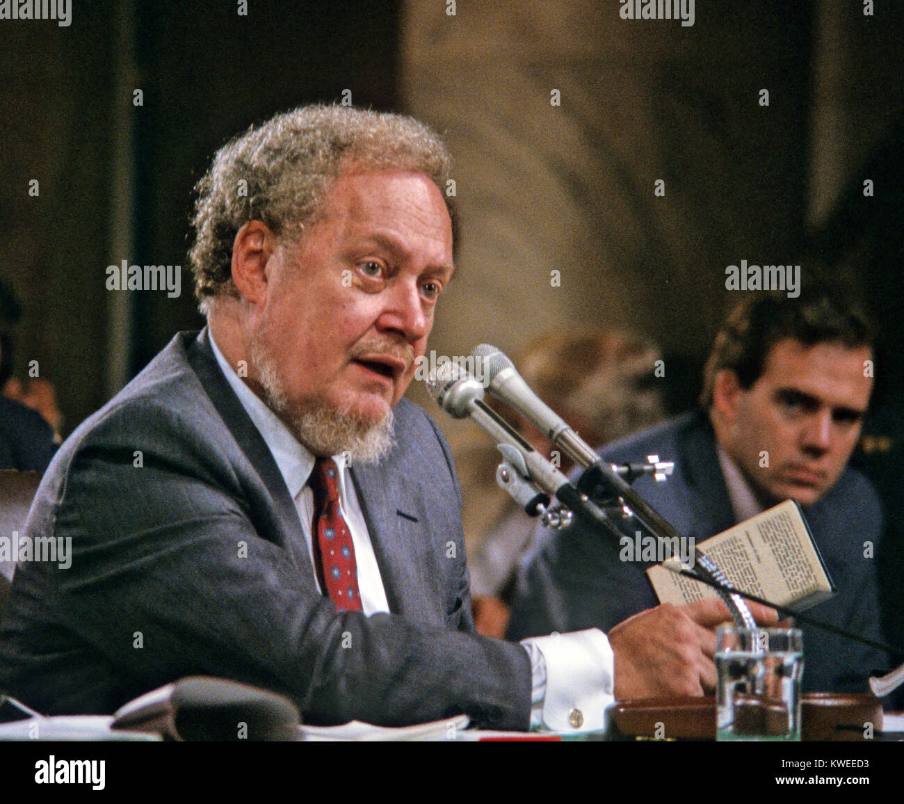 Judge Robert H. Bork, United States President Ronald Reagan's nominee for Associate Justice of the U.S. Supreme - Stock Image