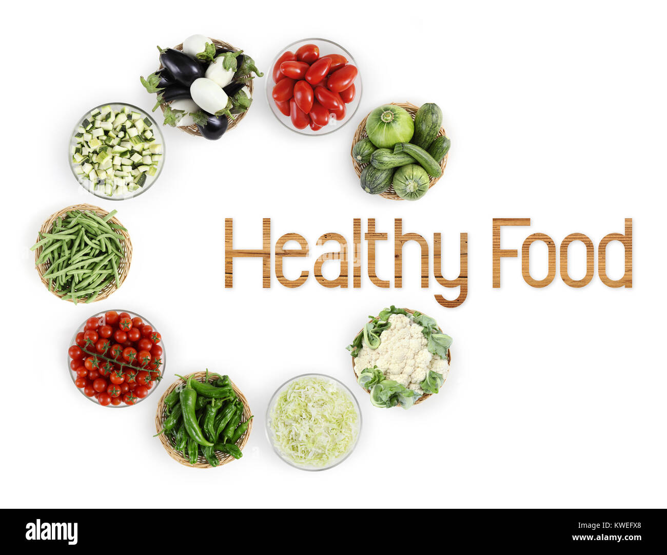 healthy food text top view vegetables isolated on white kitchen ...