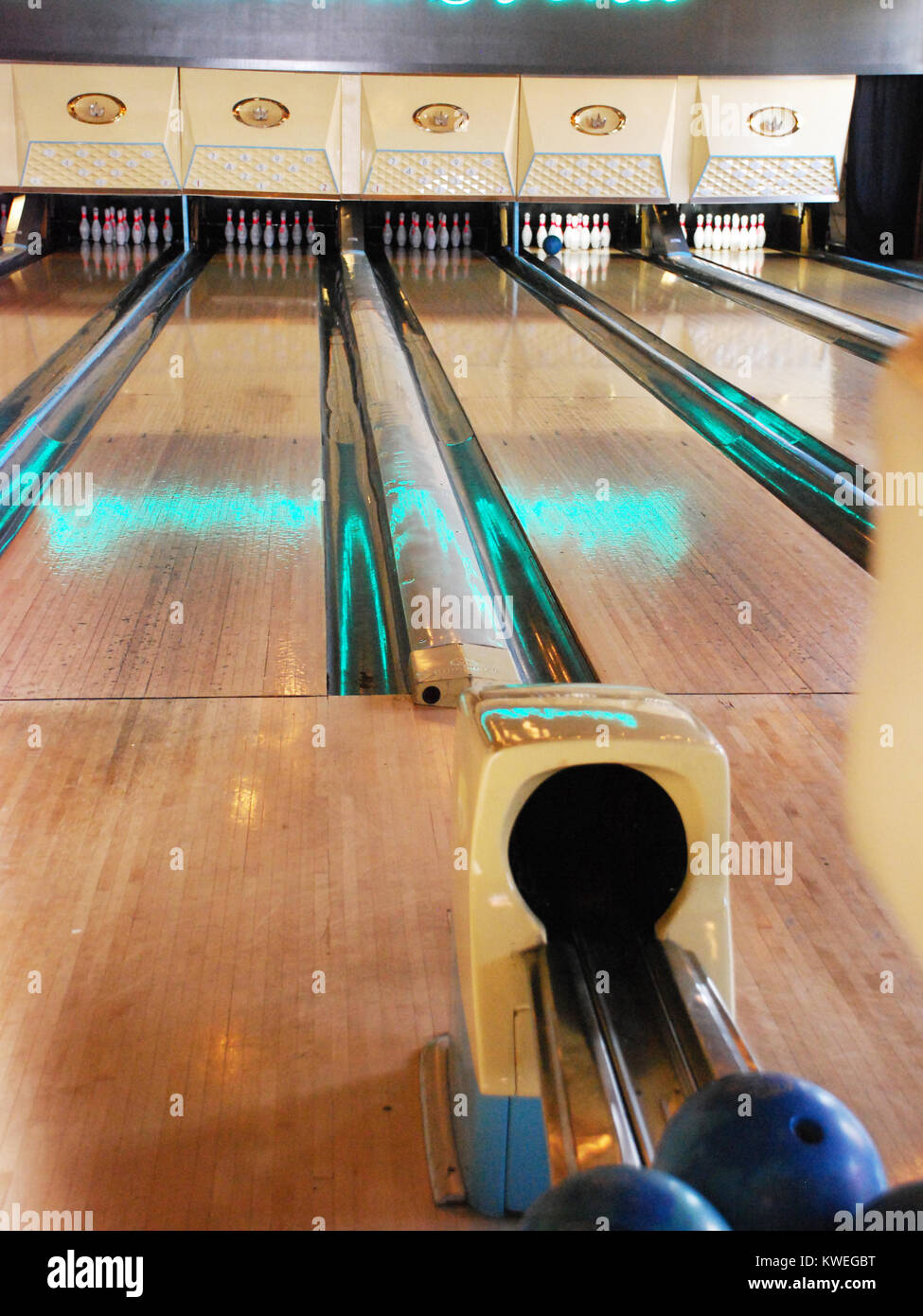 Vintage bowling alley in Nashville, TN USA - Stock Image