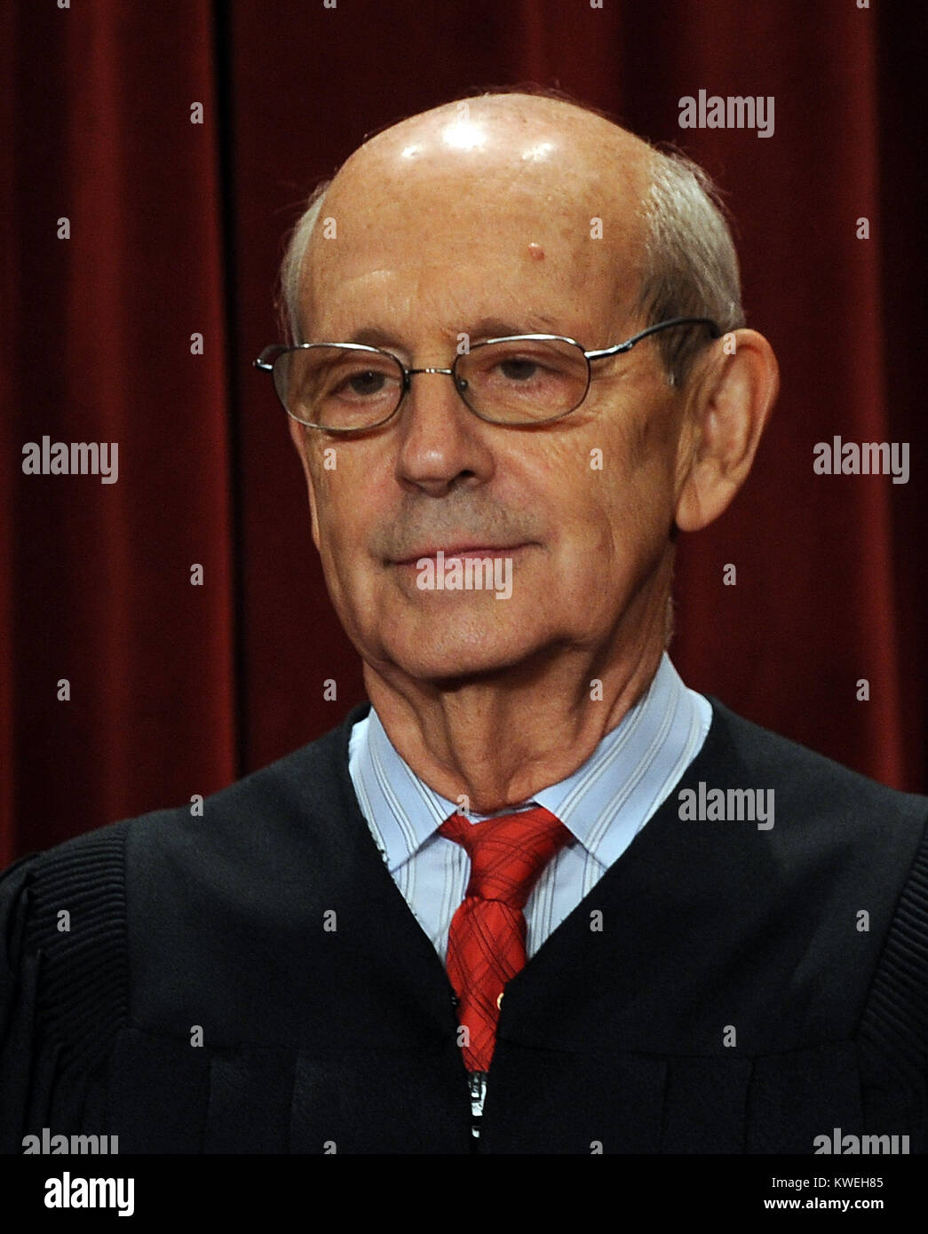 Associate Justice Stephen Breyer and the Supreme Court Justices of the United States sit for a formal group photo - Stock Image